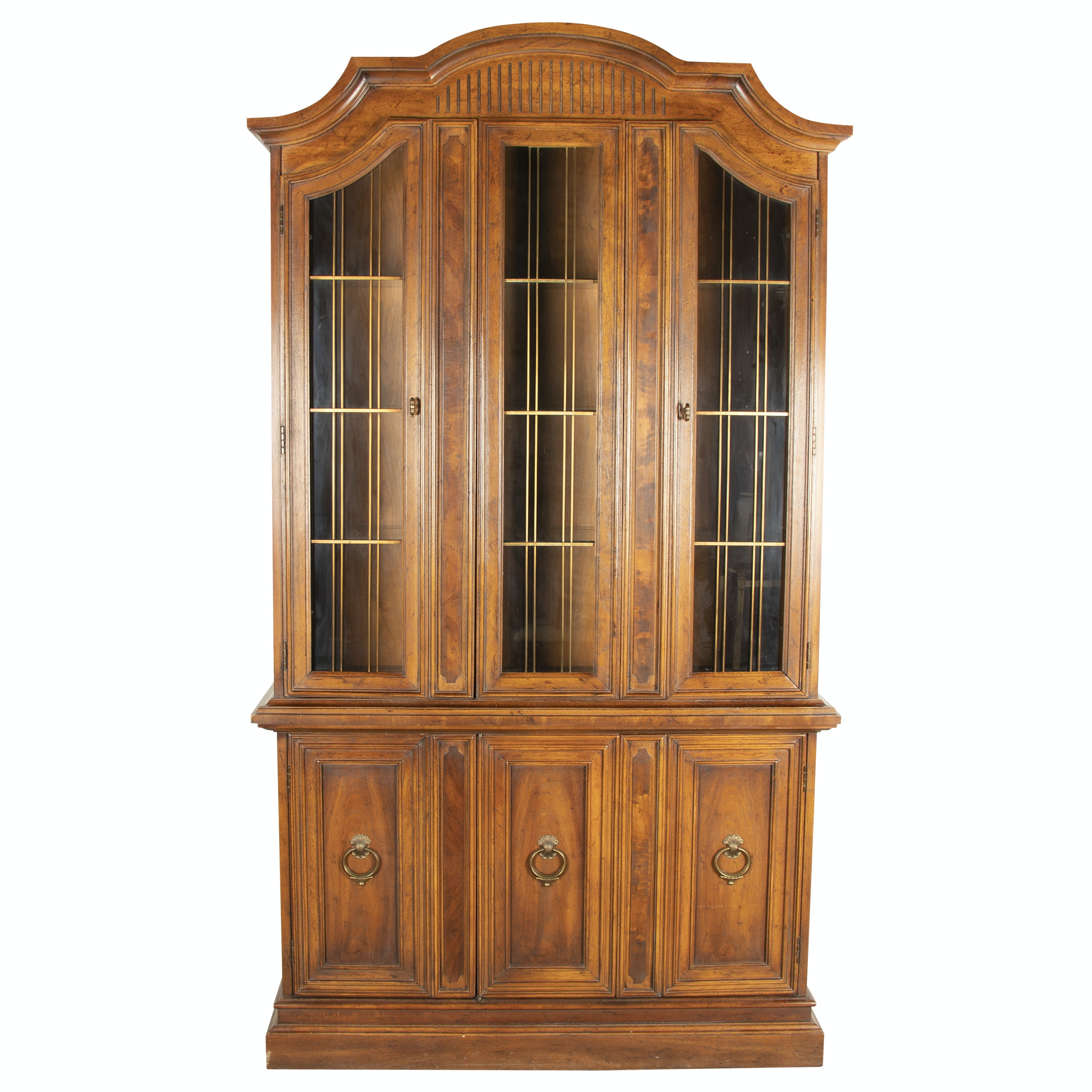 """Louis XVI Style Pecan """"Francesca"""" China Cabinet by Drexel, Mid/Late 20th Century"""