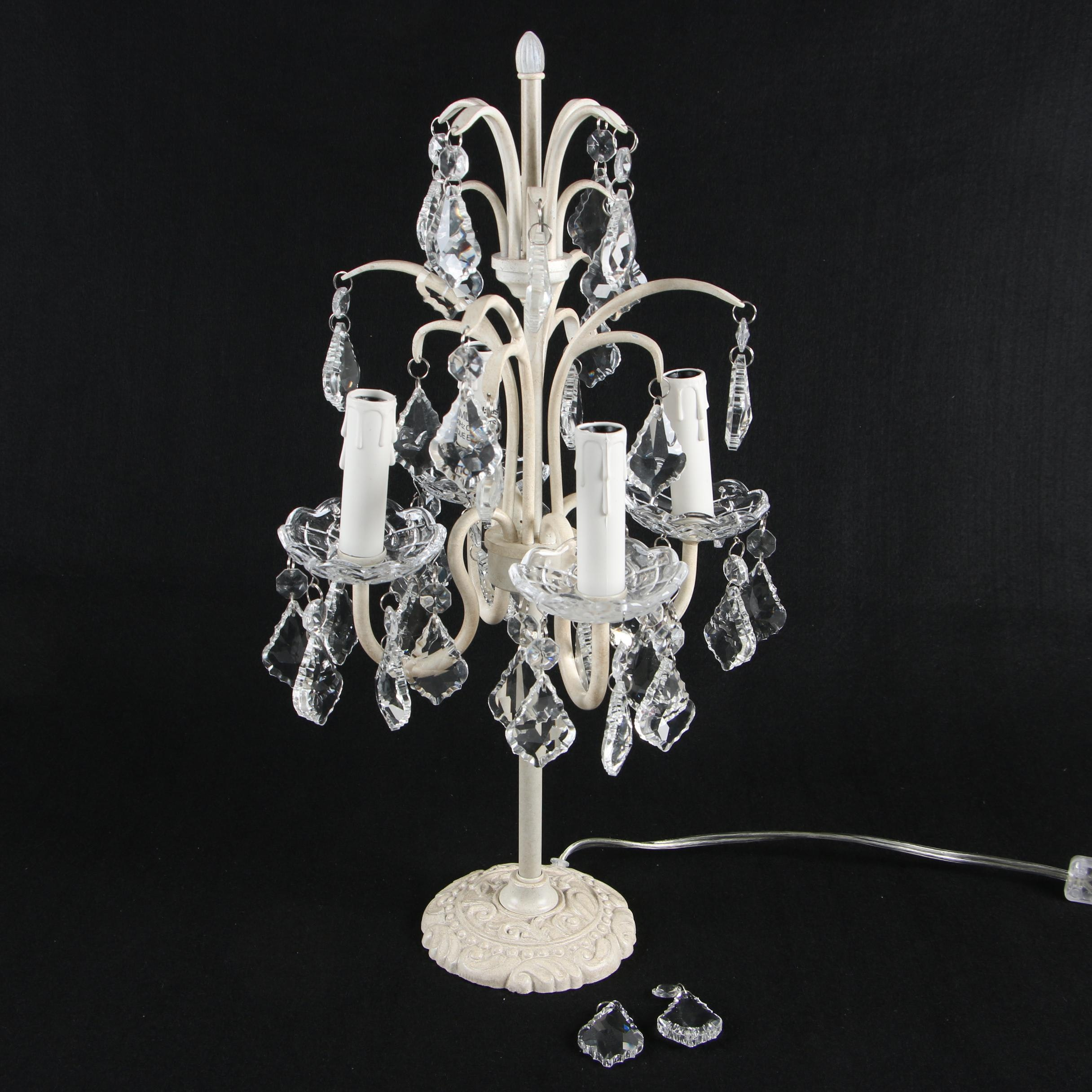 Baby & Child Restoration Hardware Wrought Iron Table Lamp with Crystal Drops