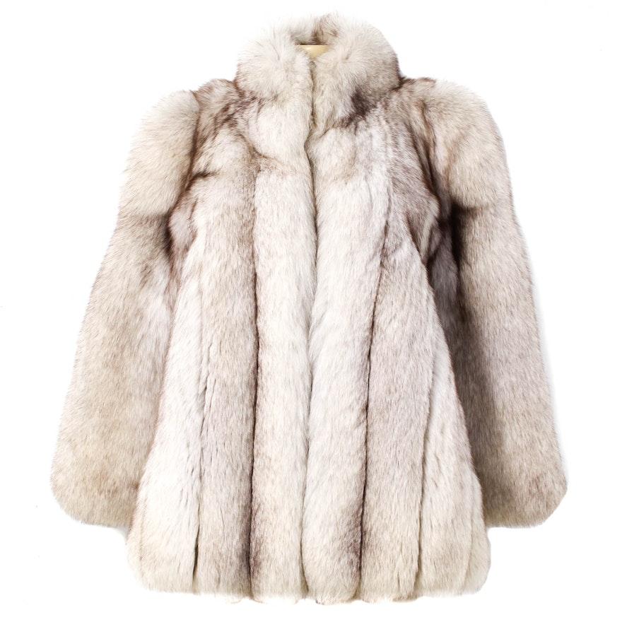 d7e7f0500ccb Vintage Blue Fox Fur Coat By Duplers Furs   EBTH
