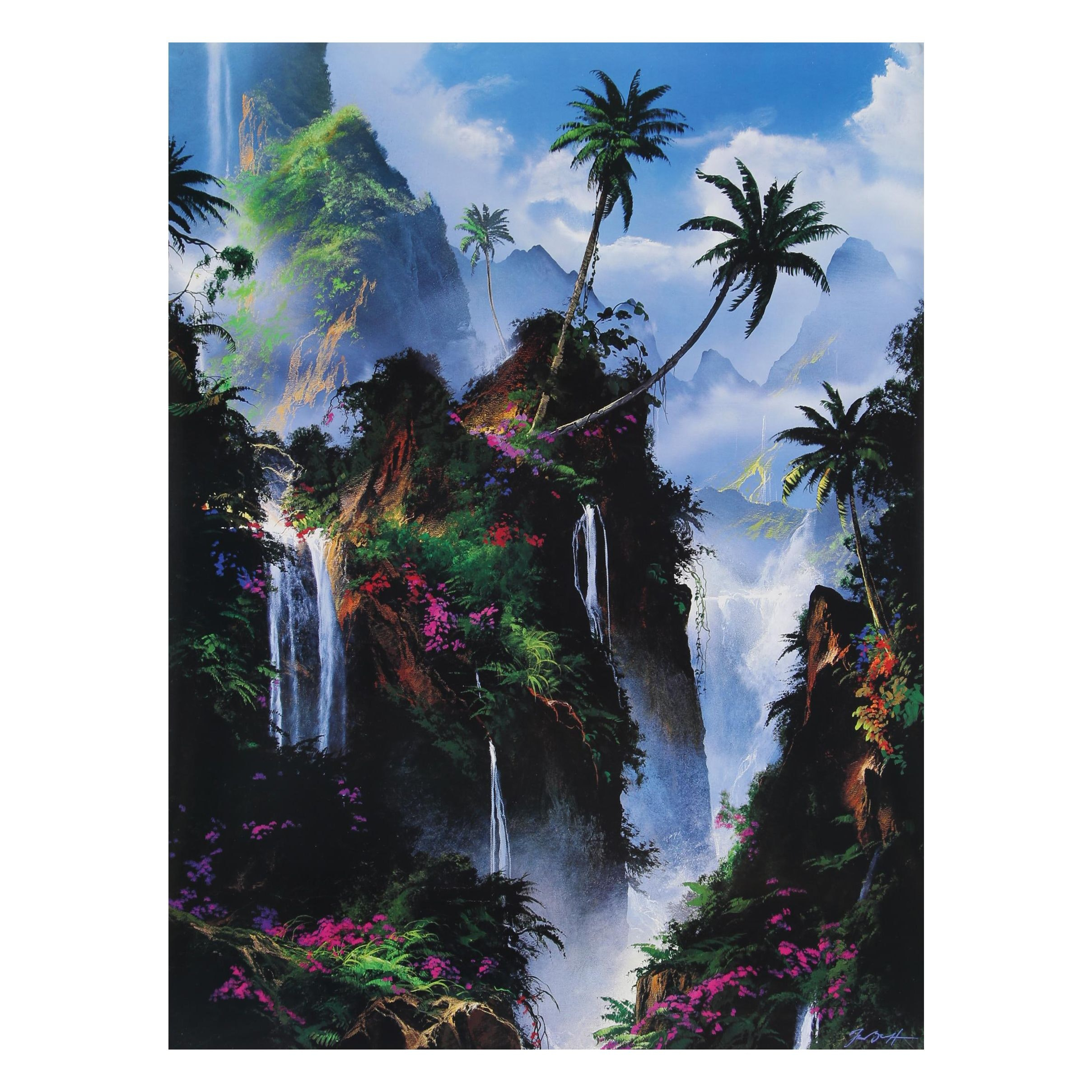 "Offset Lithograph after Dale Terbush ""Everlasting Paradise"""