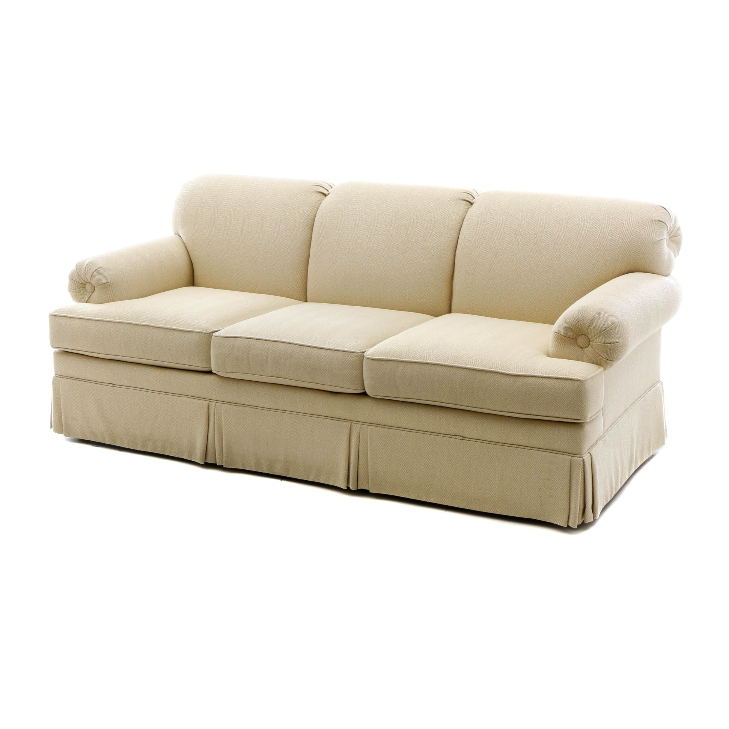 Contemporary Upholstered Sofa by Ethan Allen