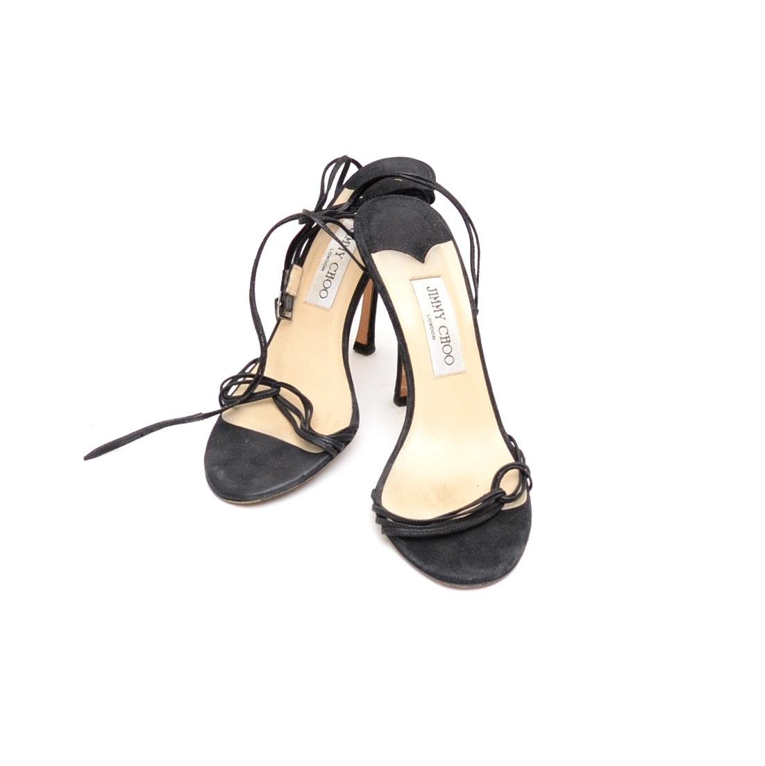 Jimmy Choo London Black Strappy Dress Sandals