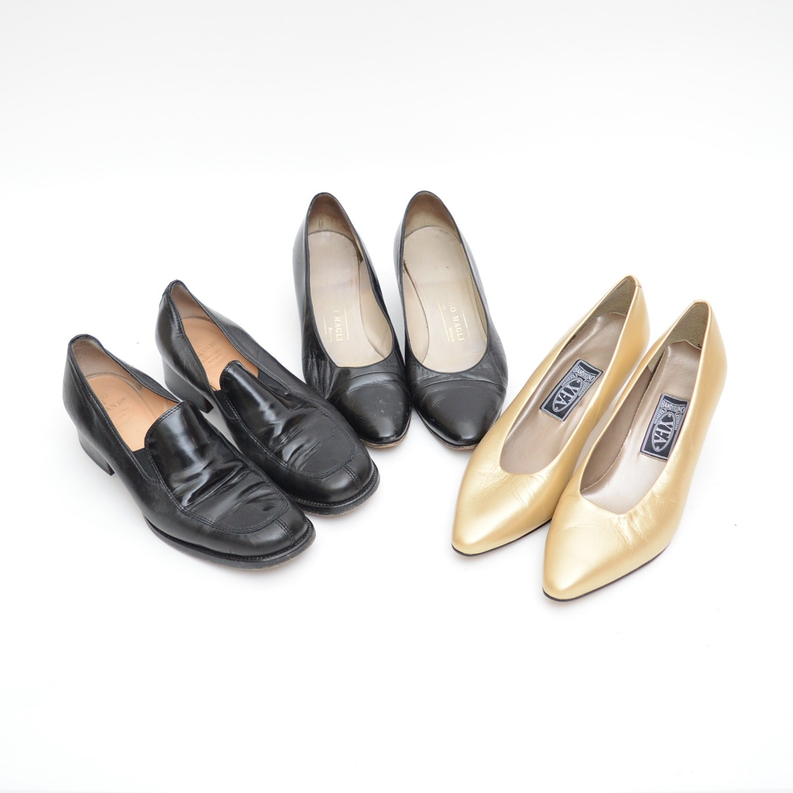 Collection of Women's Leather Shoes including Bruno Magli