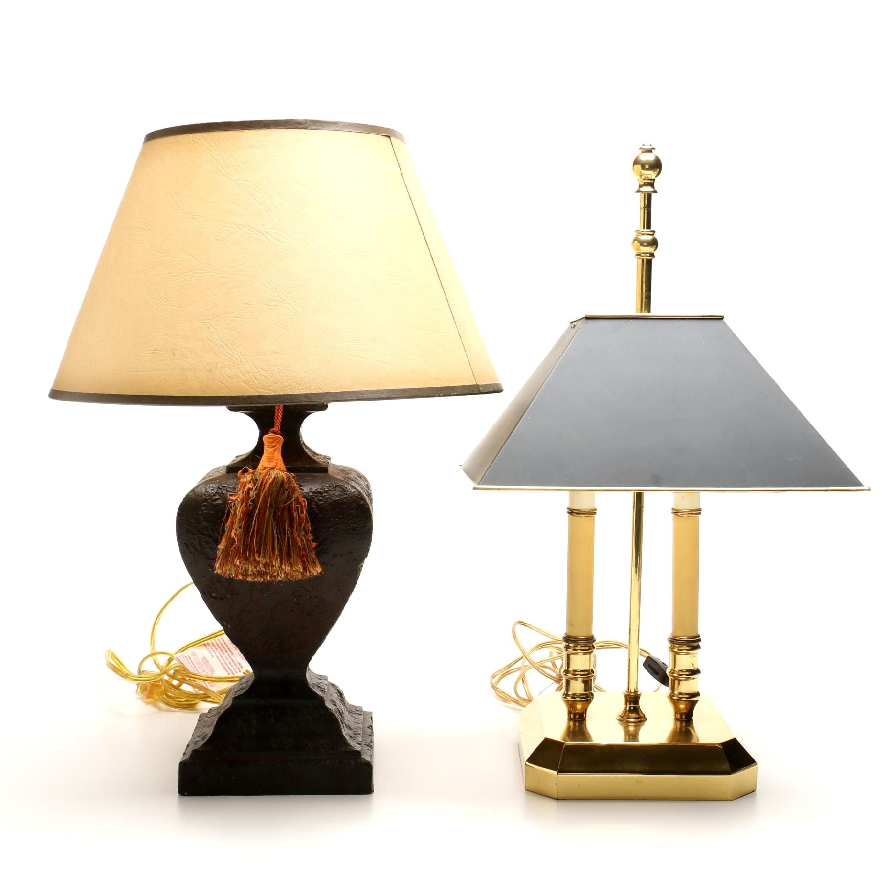 Bouillote Style Brass Office Lamp and Metal Decorative Table Lamp