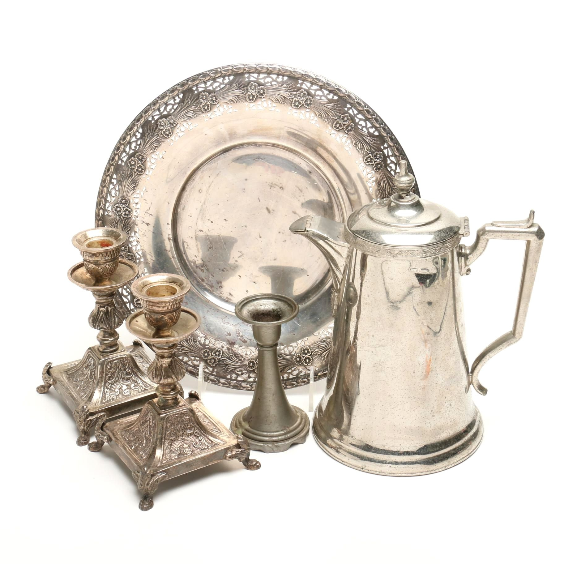 Silver Plate and Pewter Tableware Including Wm. Rogers