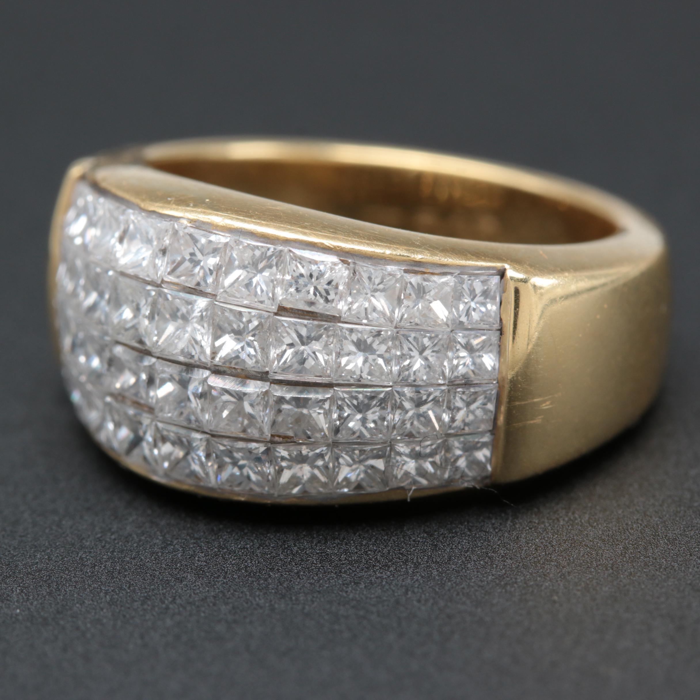 18K Yellow Gold 2.50 CTW Diamond Ring