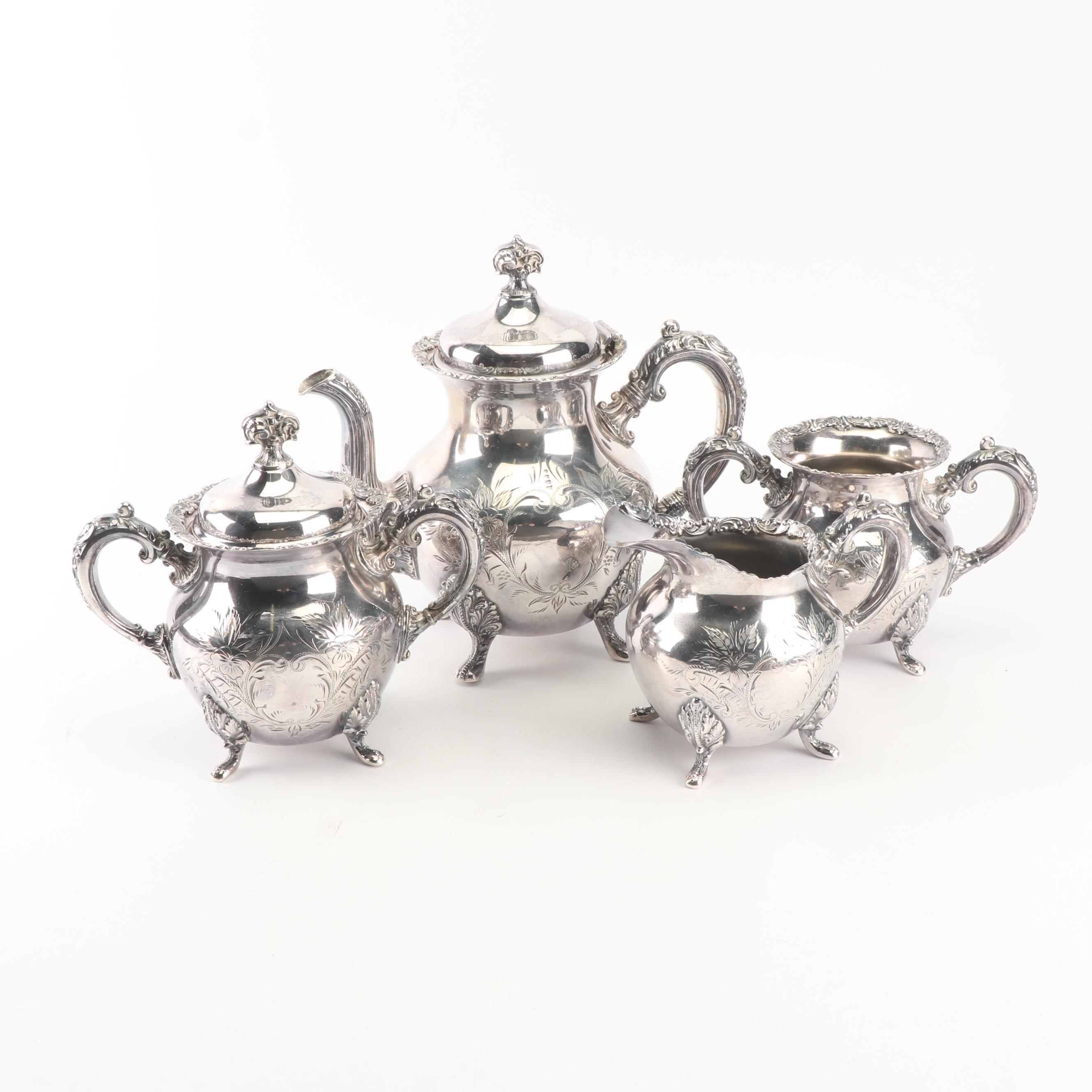 Van Bergh Silver Plate Co. Quadruple Plate Four-Piece Tea Set