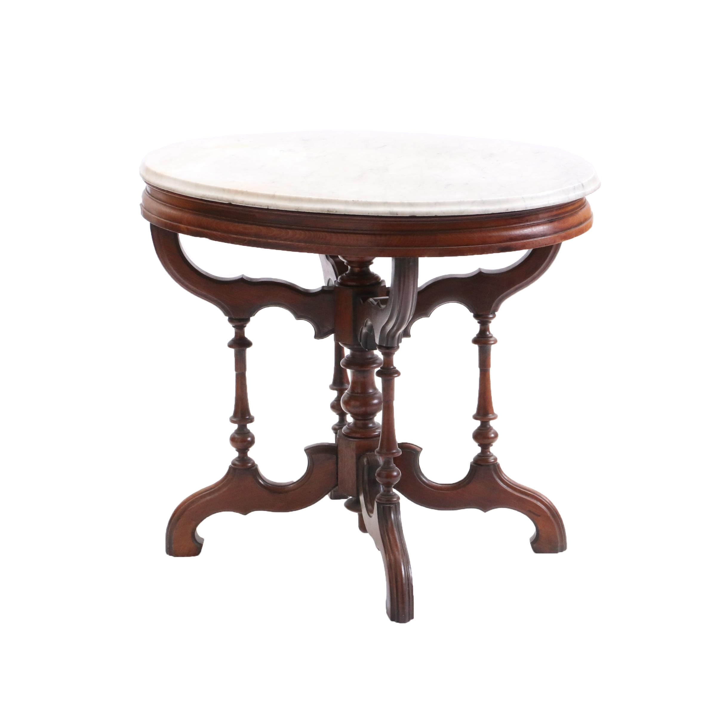 Victorian Marble Top Occasional Table, Late 19th Century
