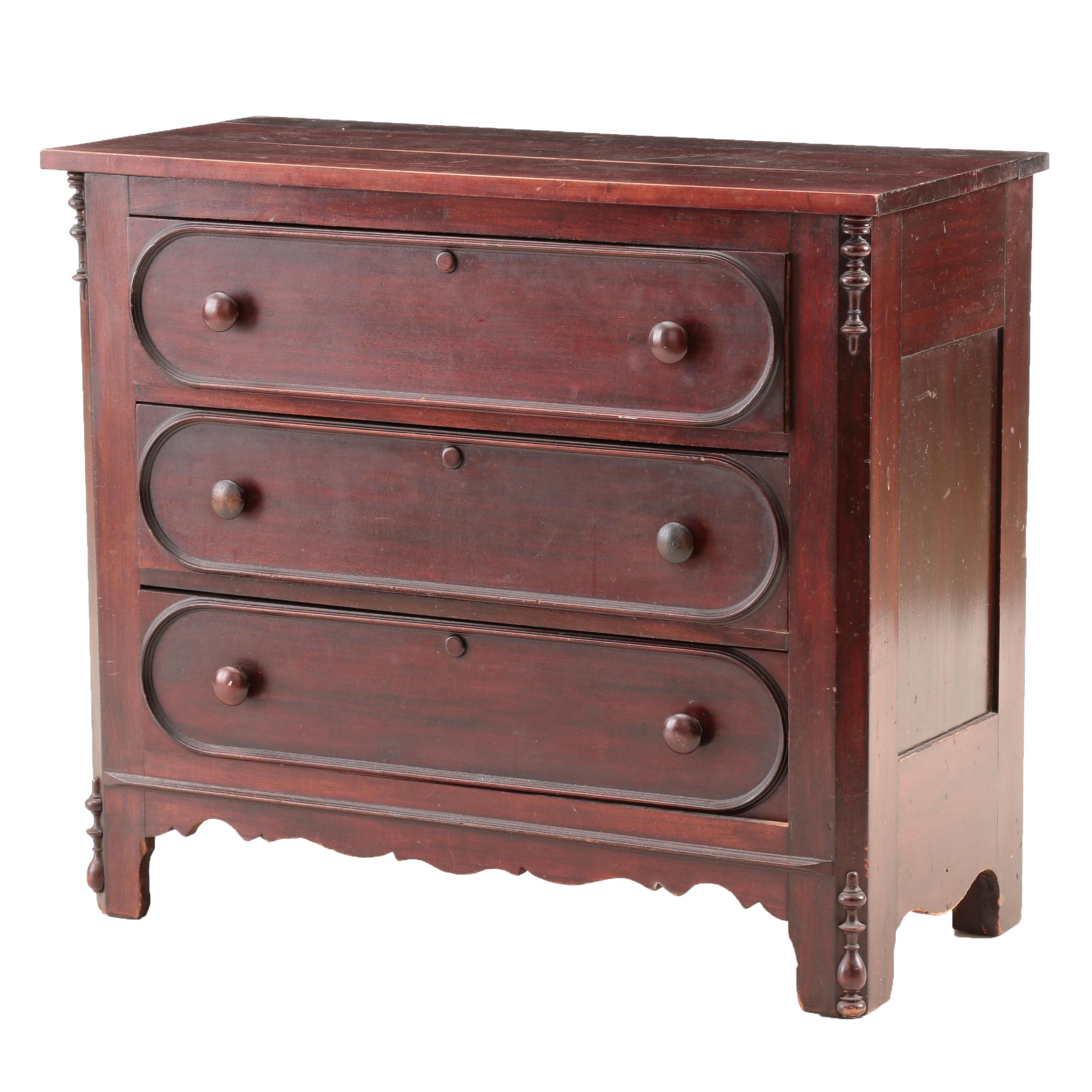 Victorian Mahogany Chest of Drawers, Late 19th Century