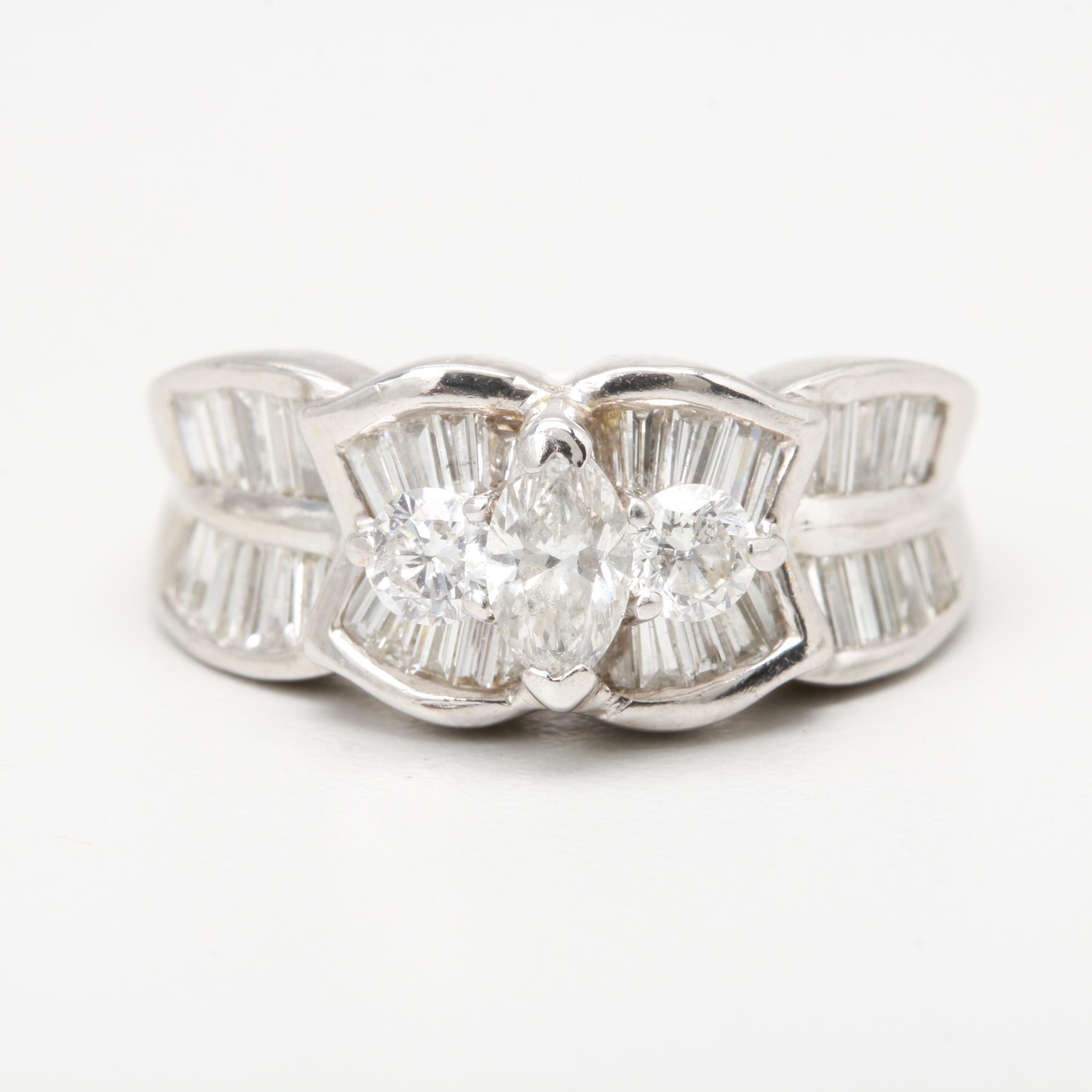 18K White Gold 1.51 CTW Diamond Ring