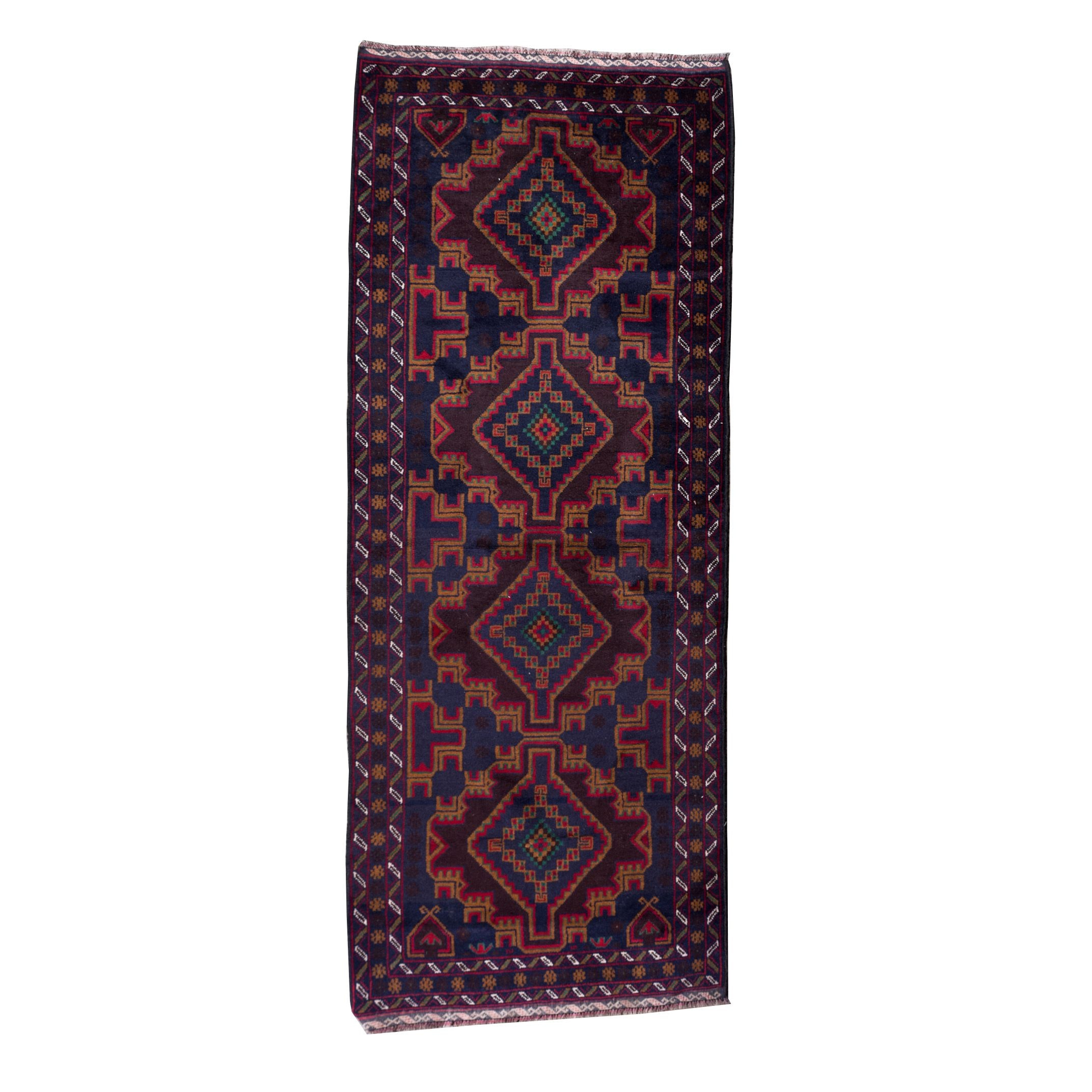 Hand-Knotted Northwest Persian Tribal Wool Carpet Runner