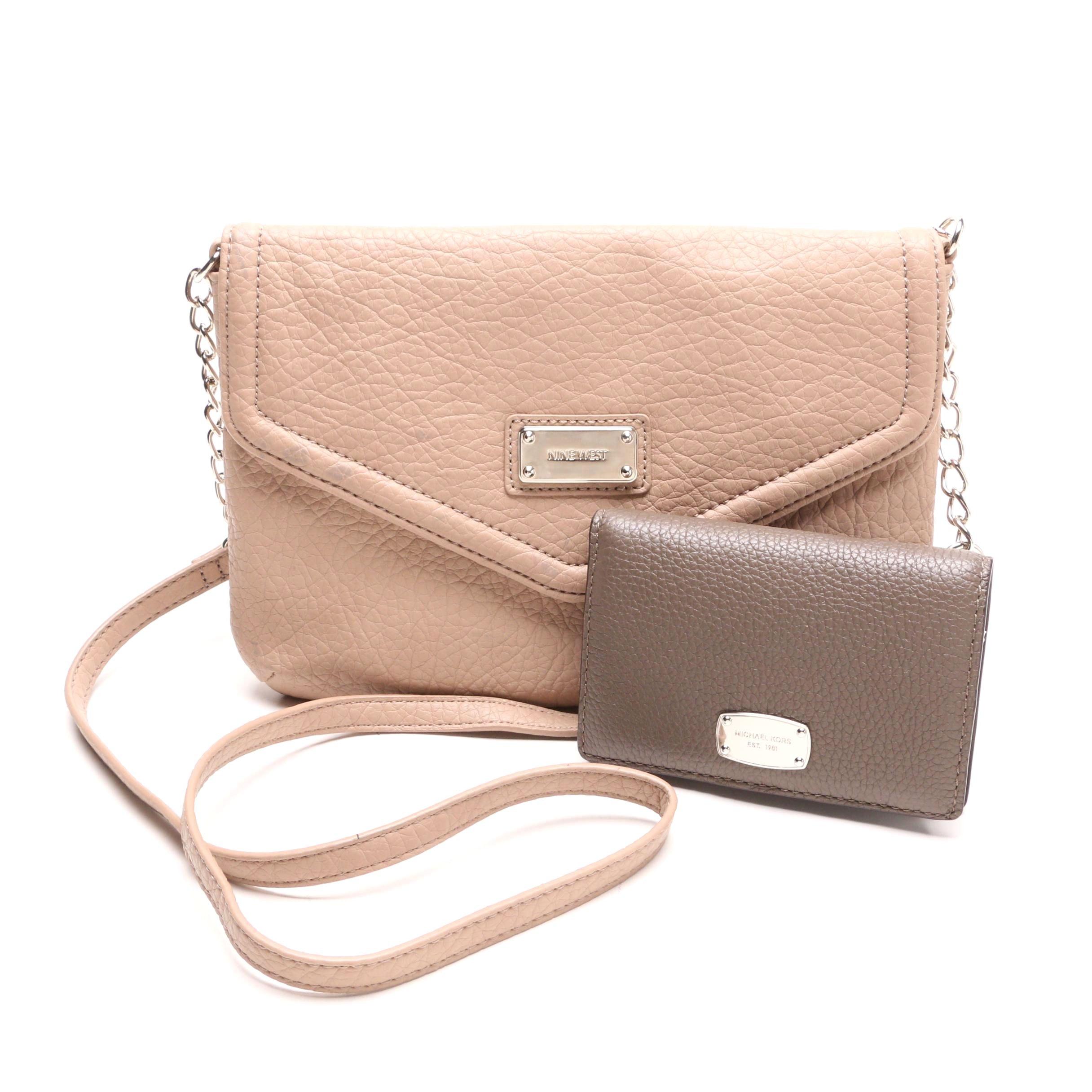 Nine West Shoulder Bag and Michael Kors Slim Leather Wallet