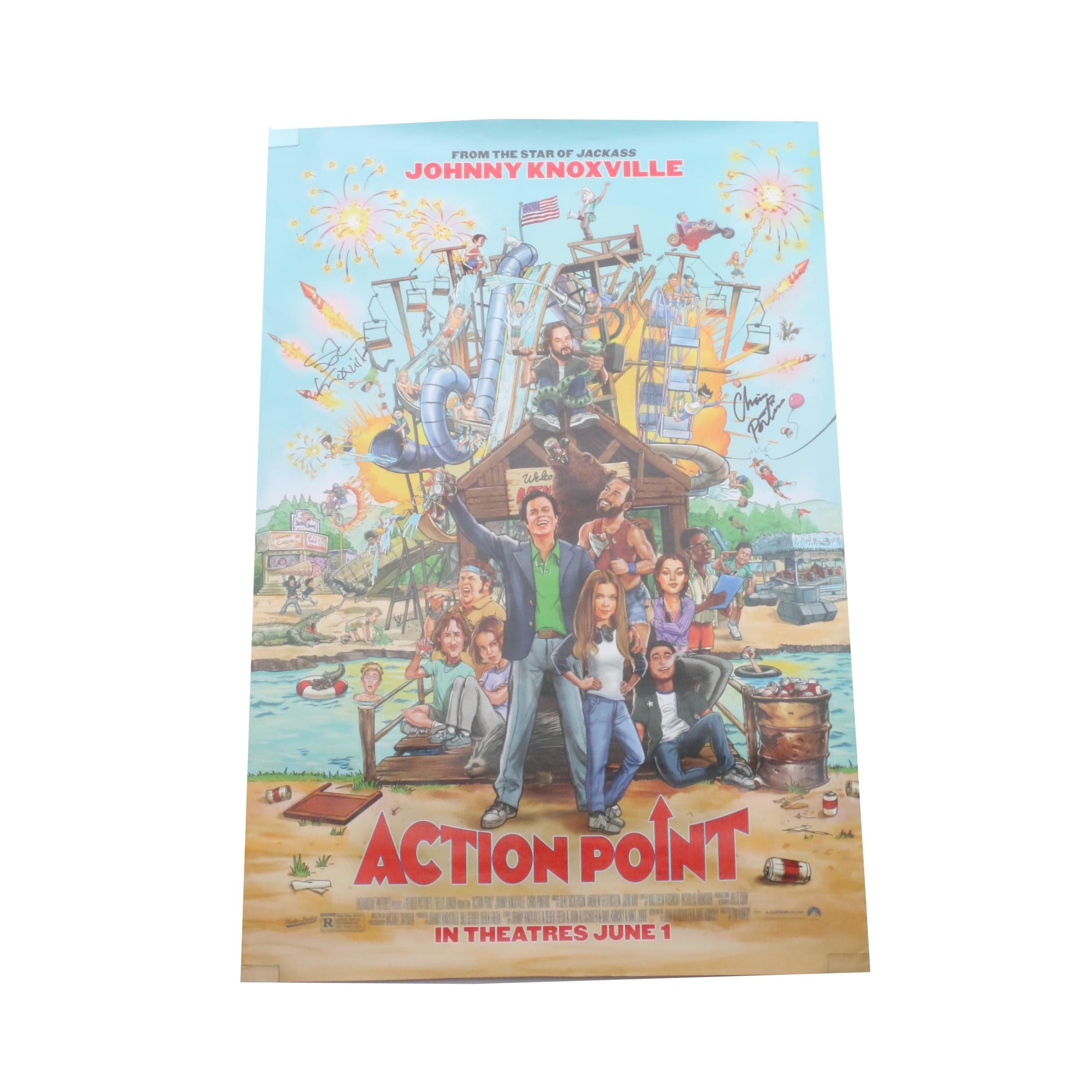 """Action Point"" Signed Movie Poster  COA"