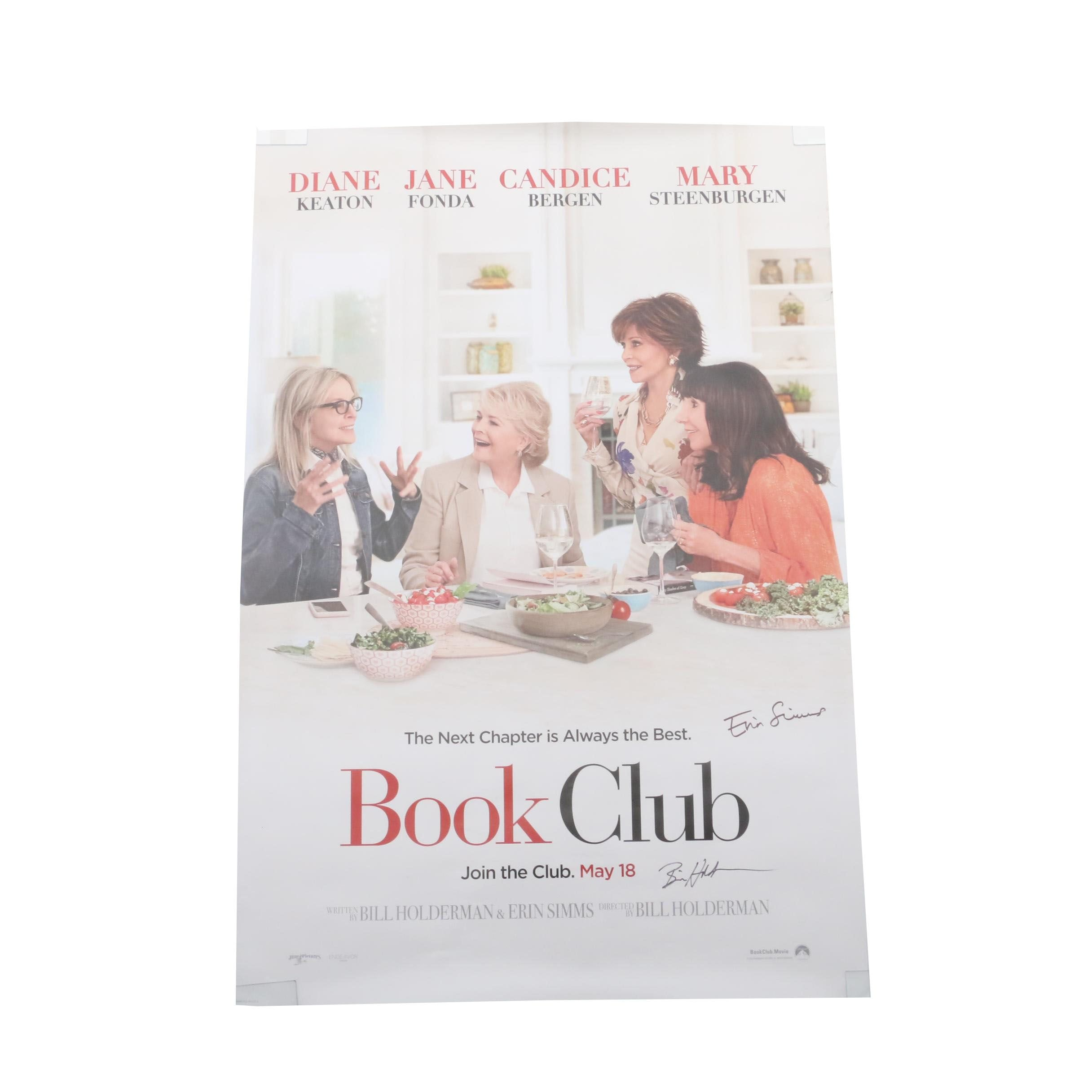 """Book Club"" Signed Movie Poster  COA"