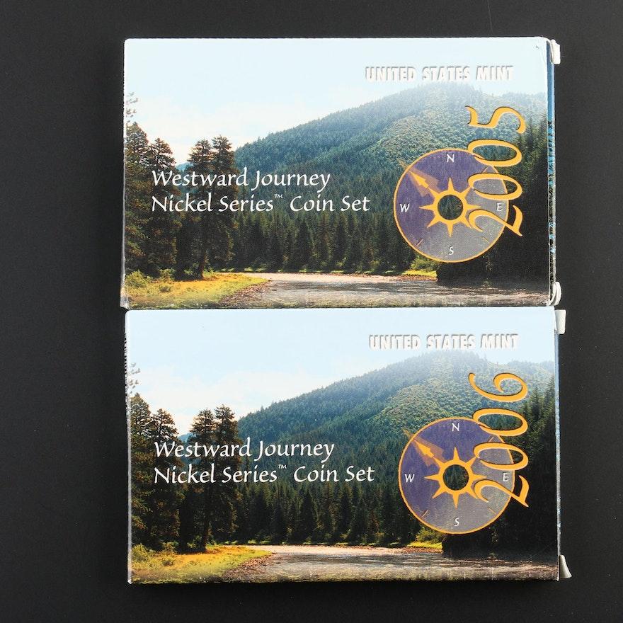 2005 And 2006 US Mint Westward Journey Nickel Series Sets