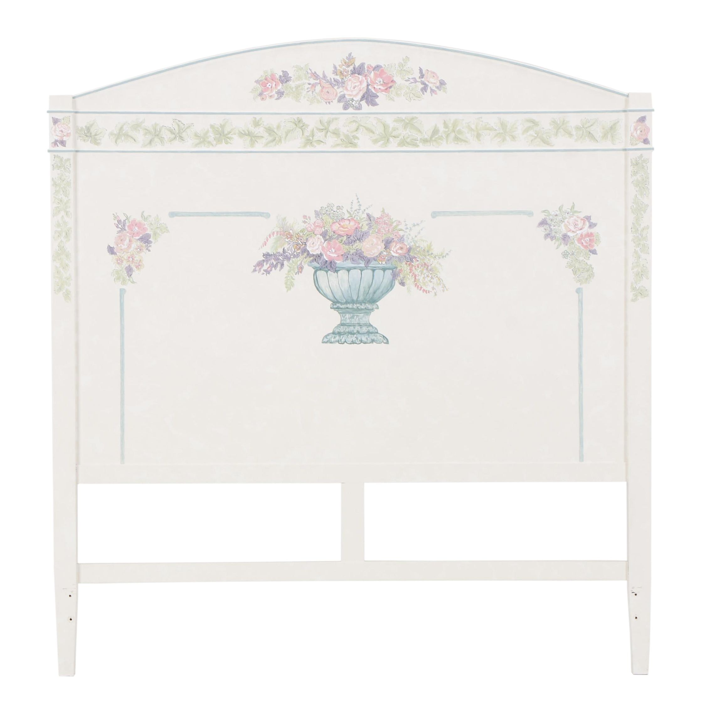 Contemporary Painted Wood Queen Size Headboard
