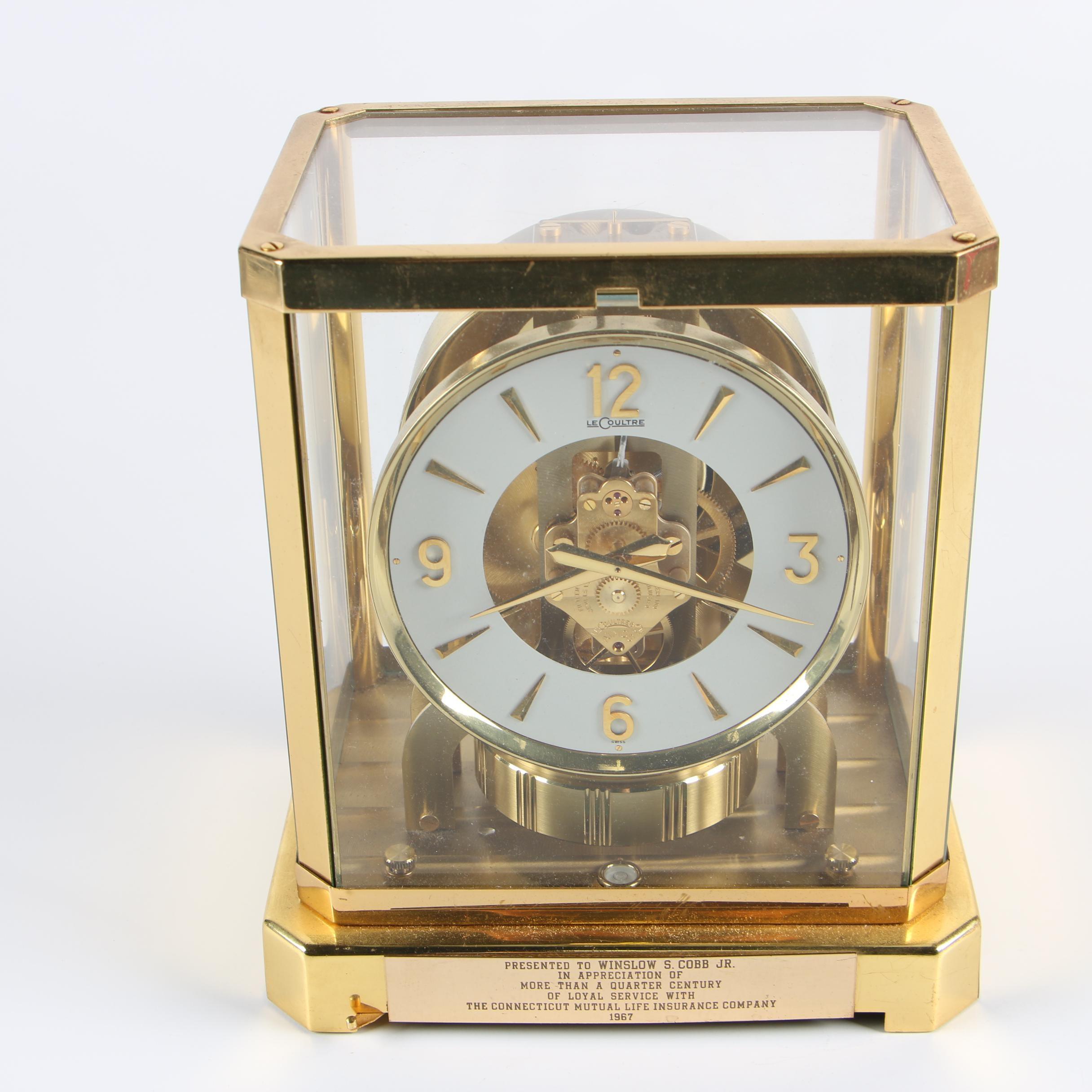 "LeCoultre Brass ""Atmos"" Perpetual Motion Mantel Clock, 1960s"