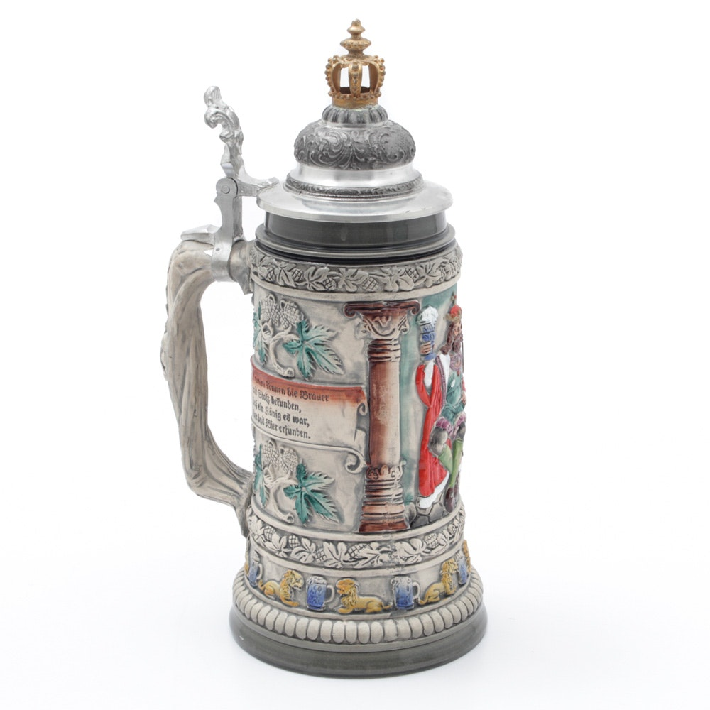 Limited Edition Hand-Painted German Beer Stein