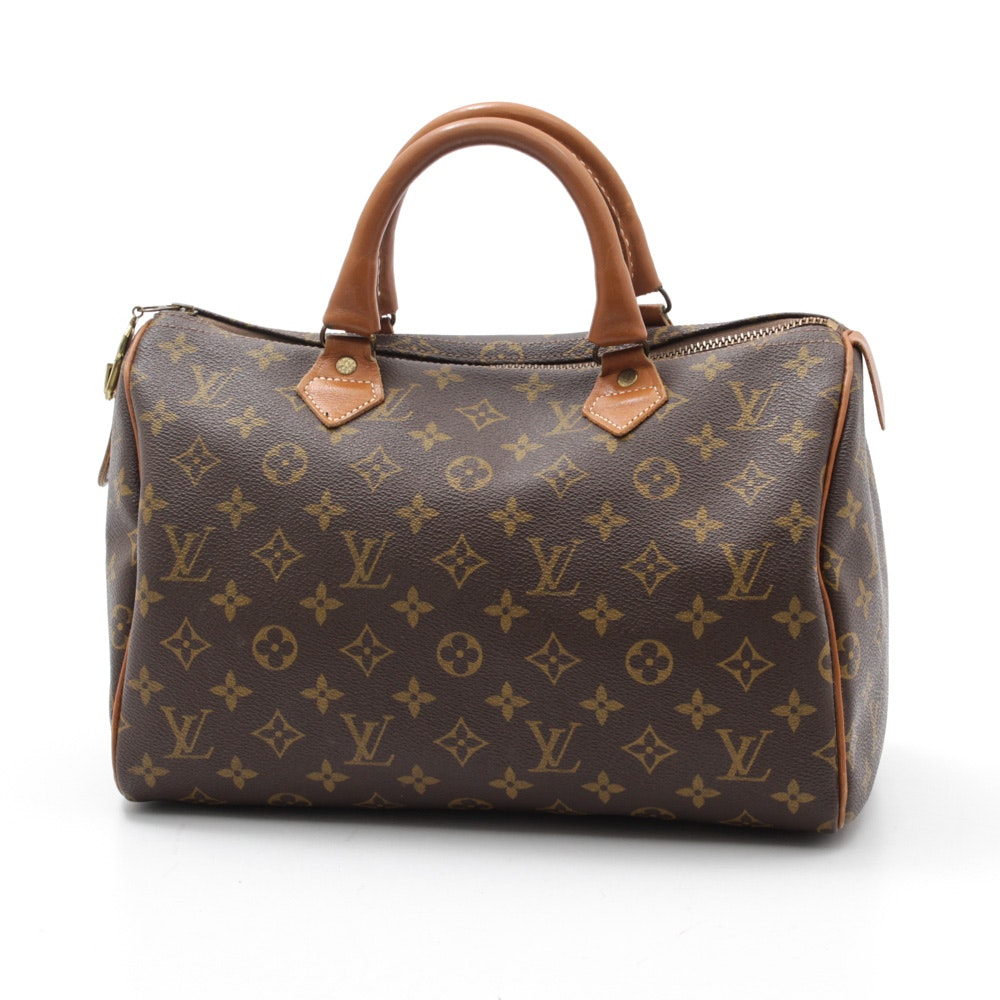 Vintage Louis Vuitton French Company Speedy Monogram Canvas and Leather Handbag