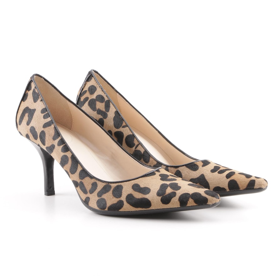 536f71db0fa5 Calvin Klein Dolly Leopard Print Calf Hair Pumps   EBTH