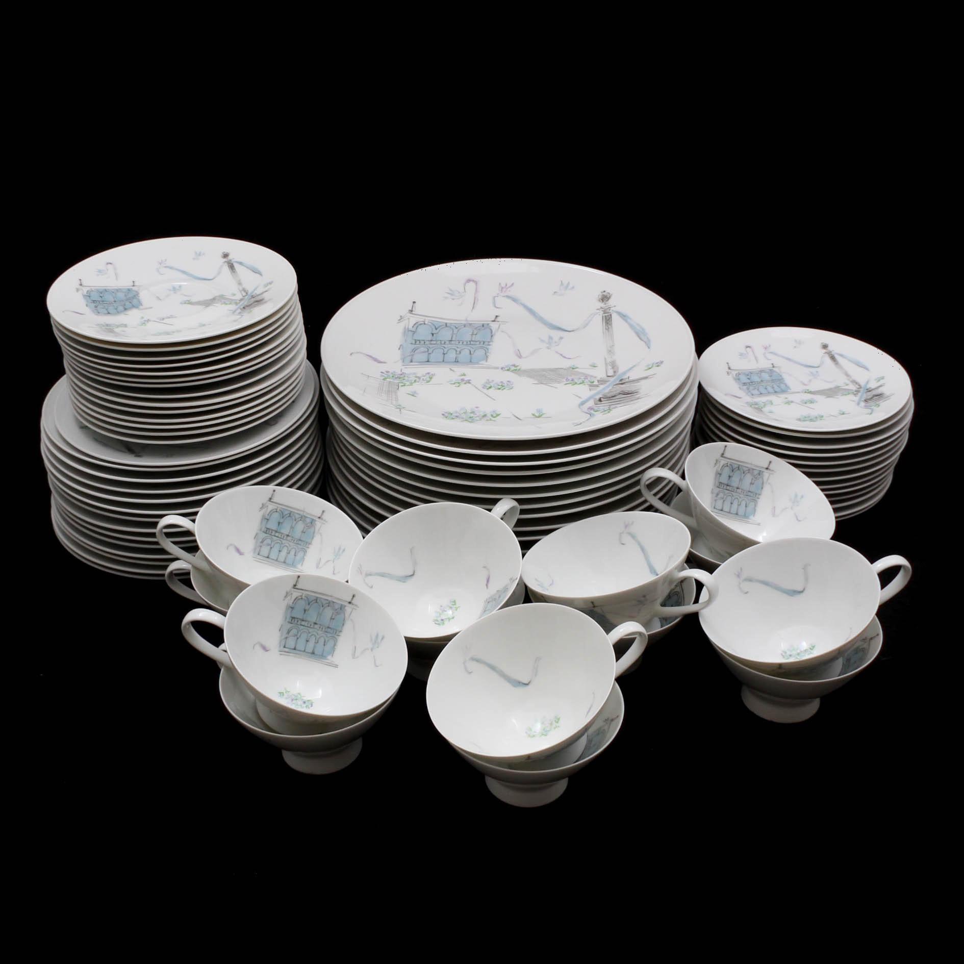 "Mid-Century Rosenthal ""Plaza"" Porcelain Dinnerware by Raymond Loewy"