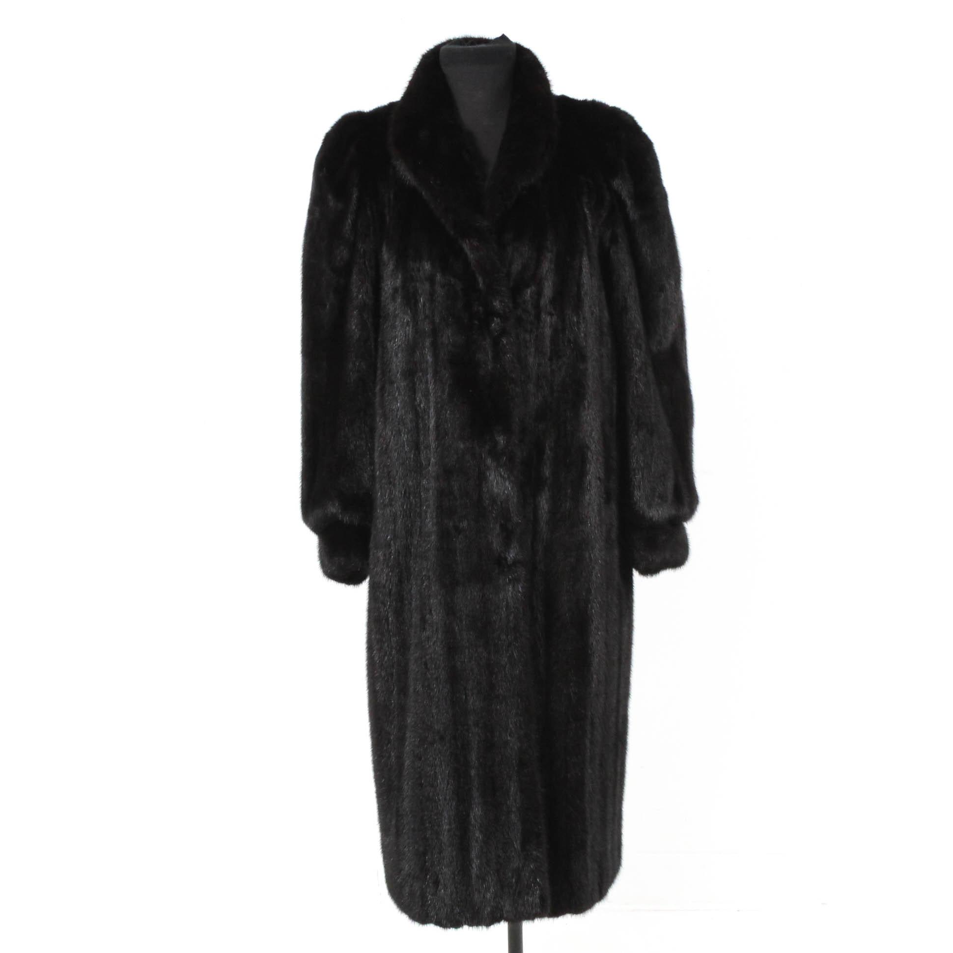 Dark Ranch Mink Fur Coat from Severyn