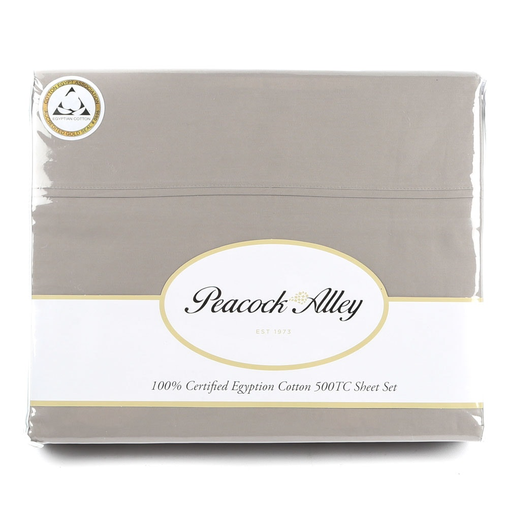 Peacock Alley King-Size Egyptian Cotton 500 Thread Count Sheet Set