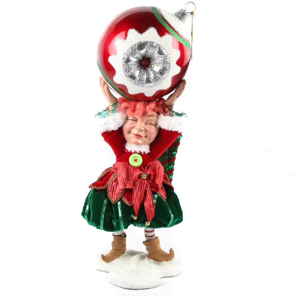 "Katherine's Collection ""Playful Elf"" Centerpiece Figurine for Frontgate"