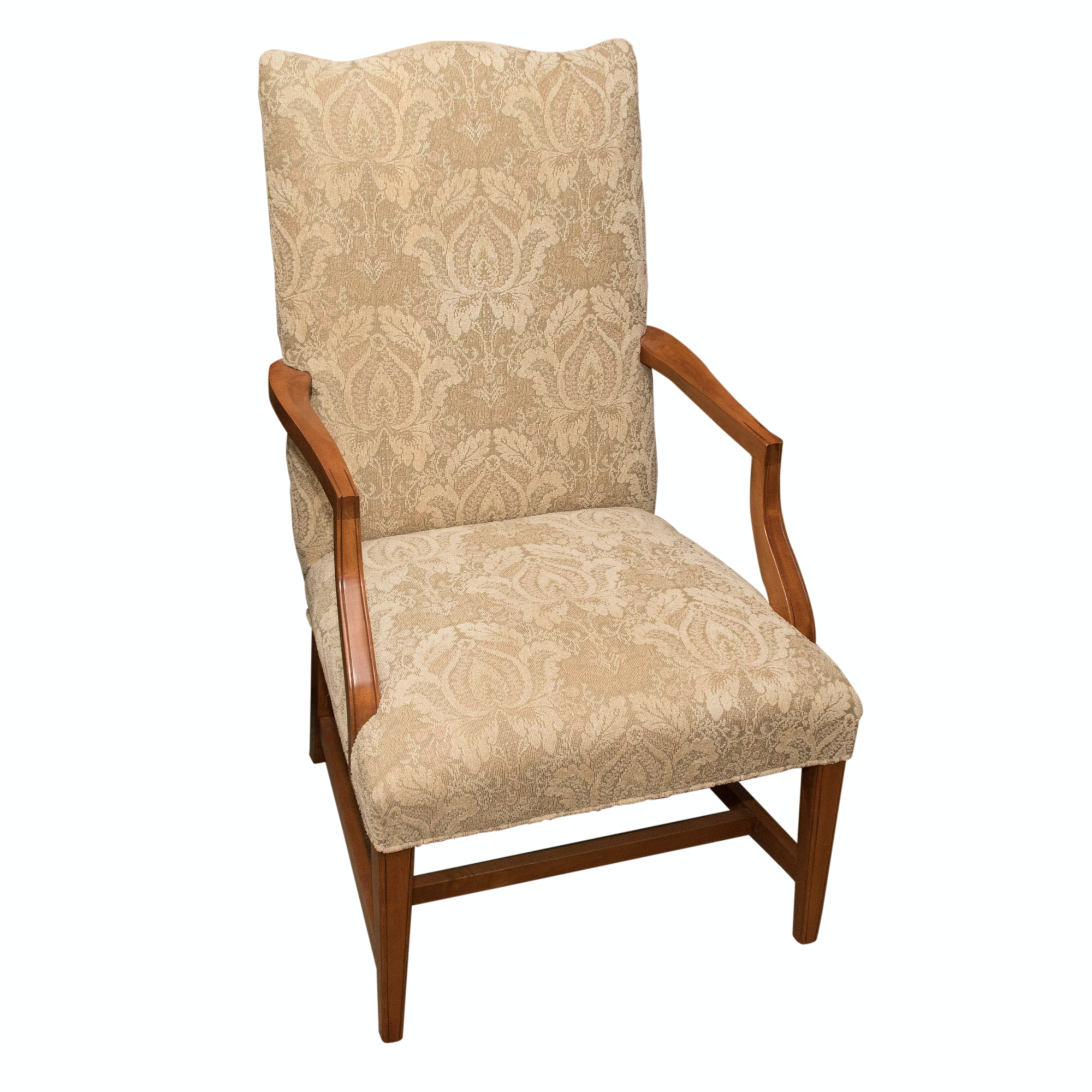 Upholstered Library Style Armchair by Ethan Allen