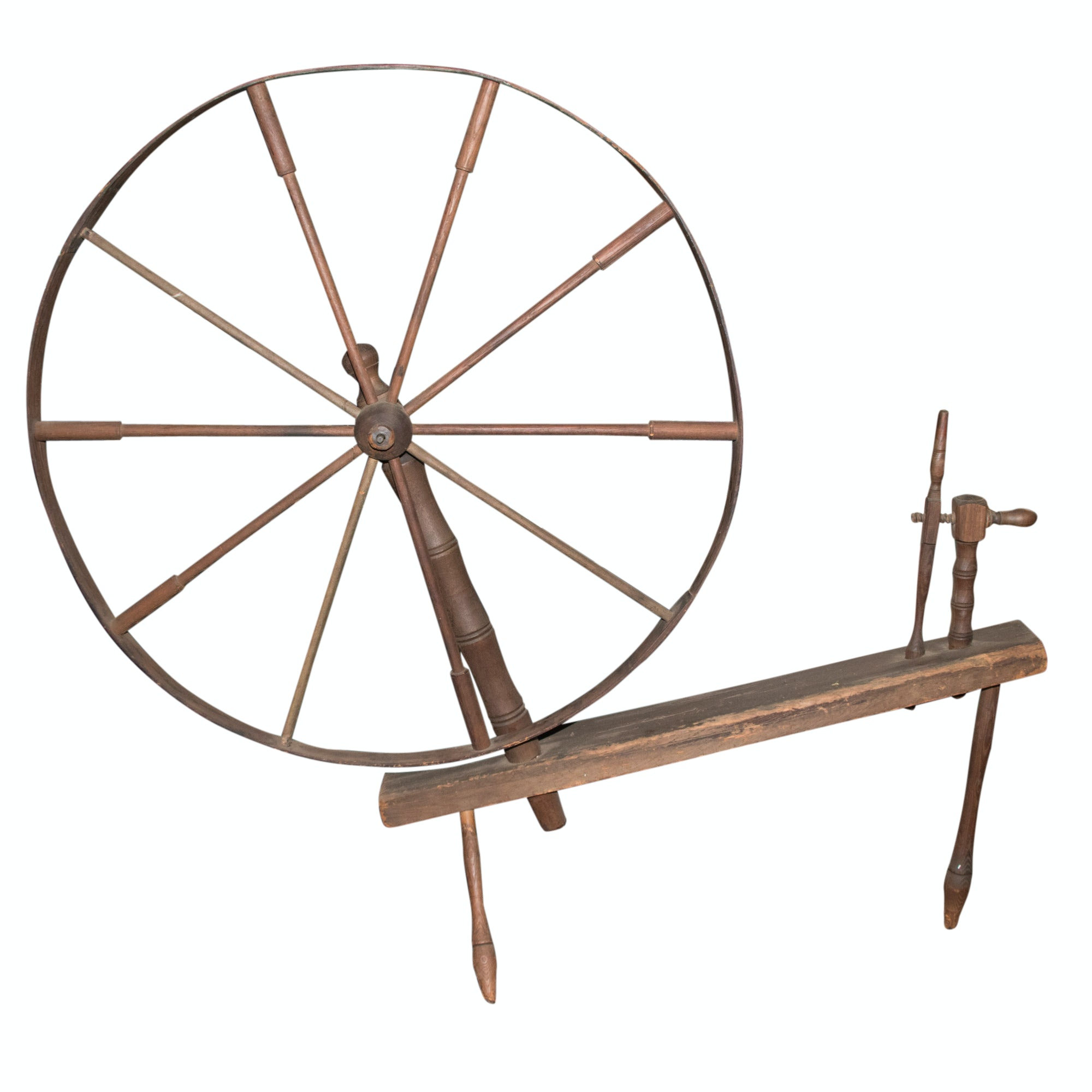 Industrial Antique Spinning Wheel