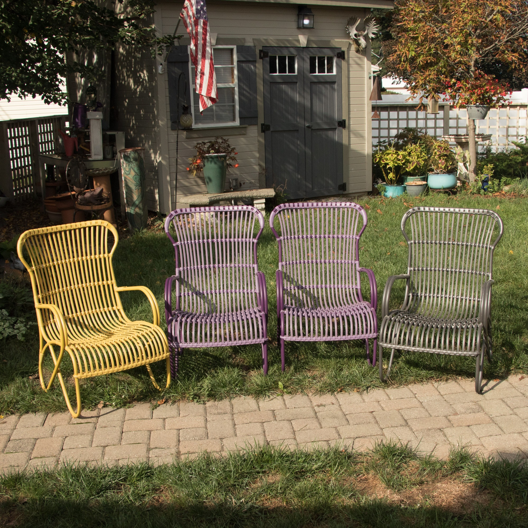 Four Frontgate Outdoor Chairs