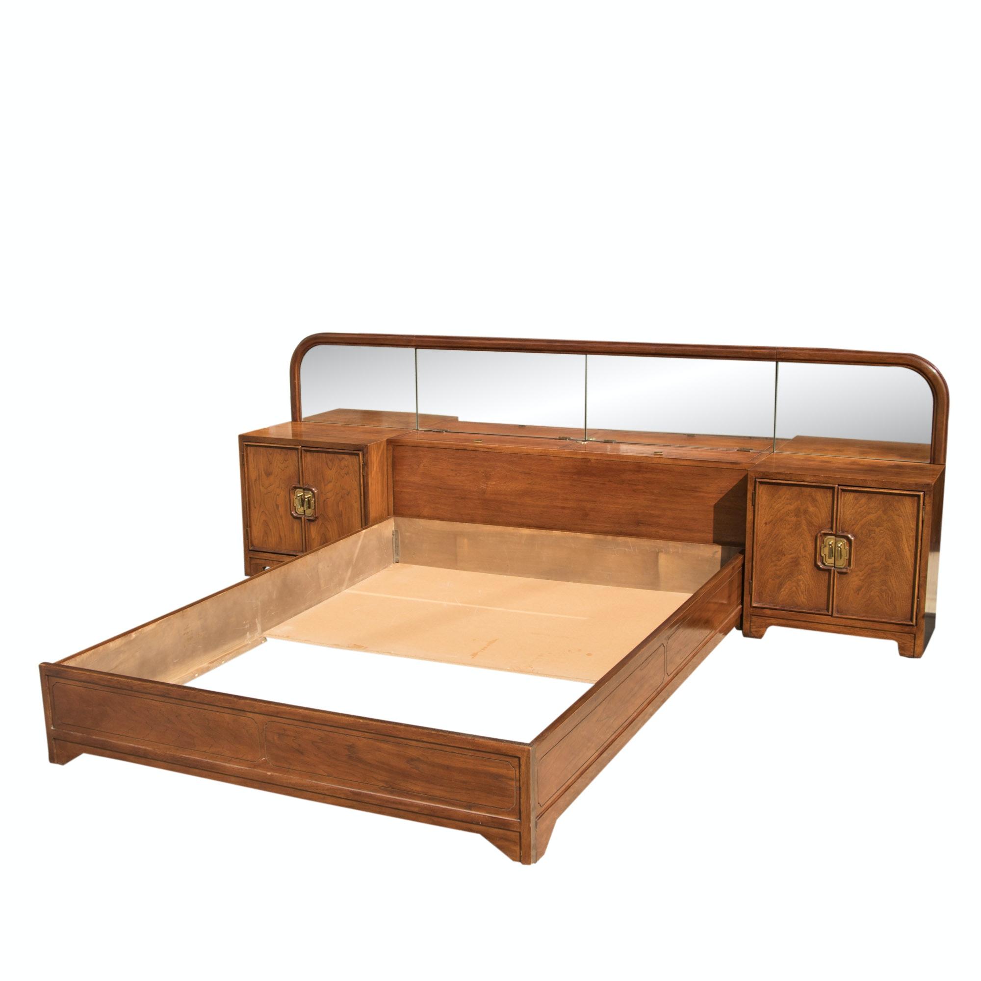"""Thomasville """"Mystique II"""" Queen Size Bed Frame, Nightstands, Headboard"""