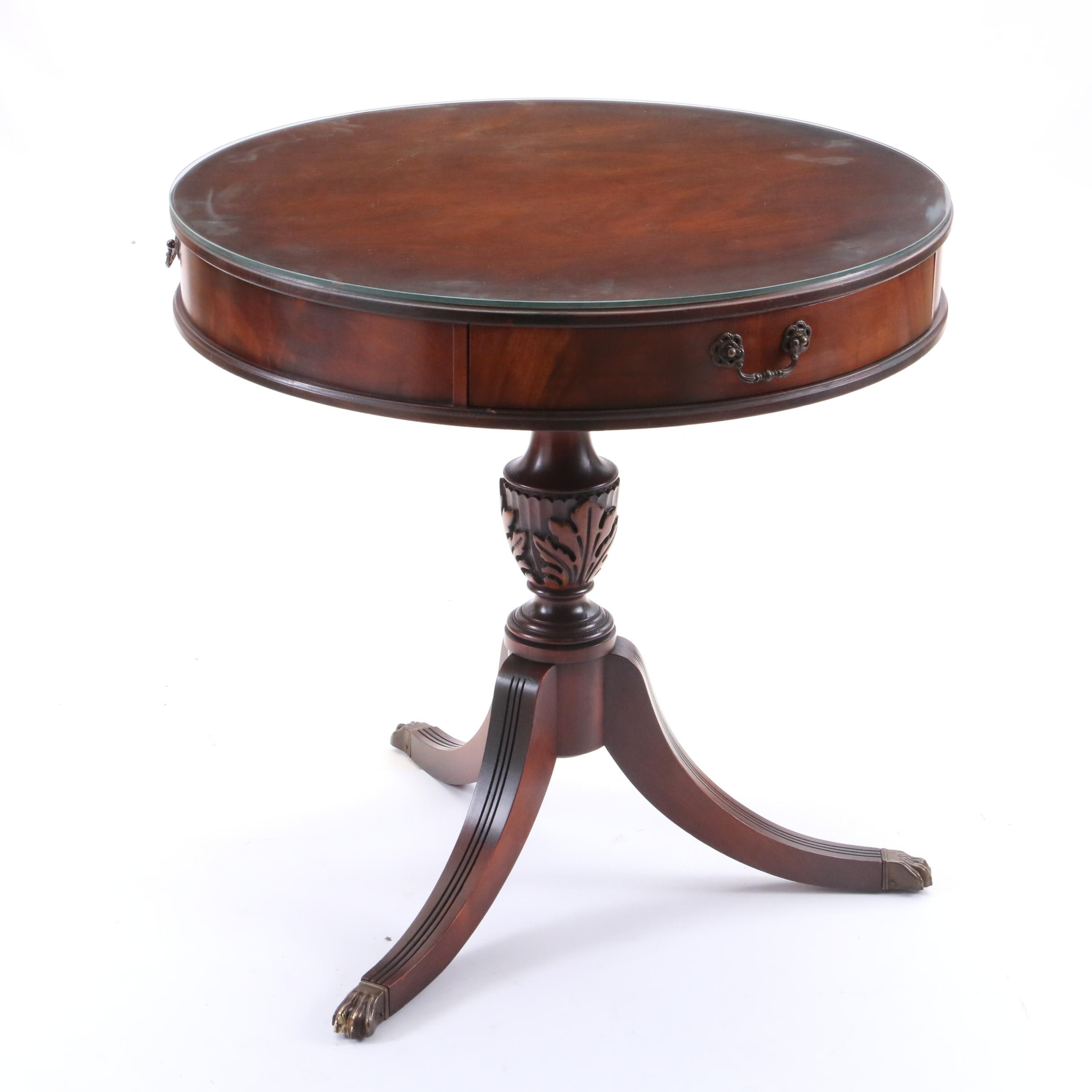 Federal Style Mahogany Drum Table by Imperial, Mid/Late 20th Century