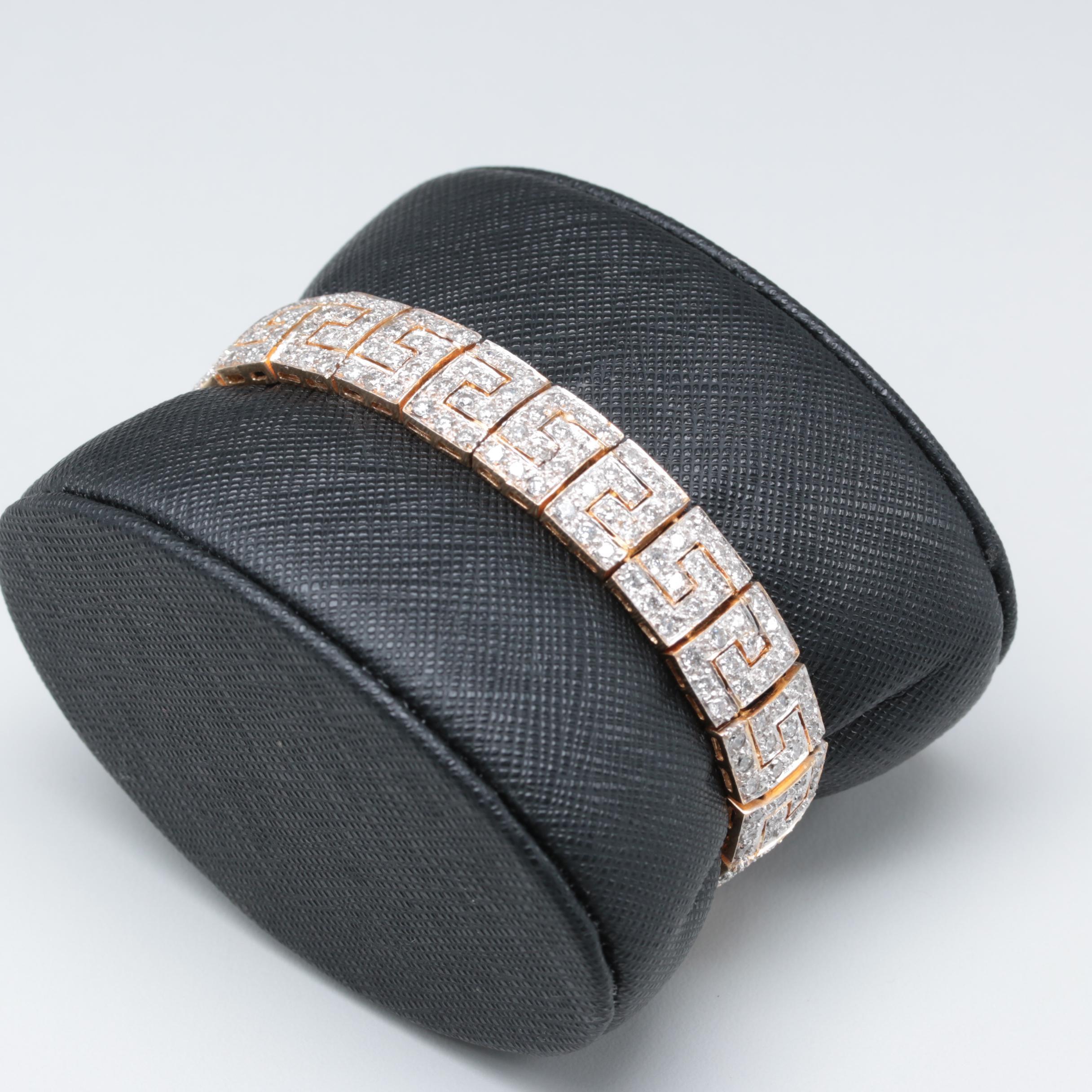 14K Yellow Gold 5.25 CTW Diamond Bracelet