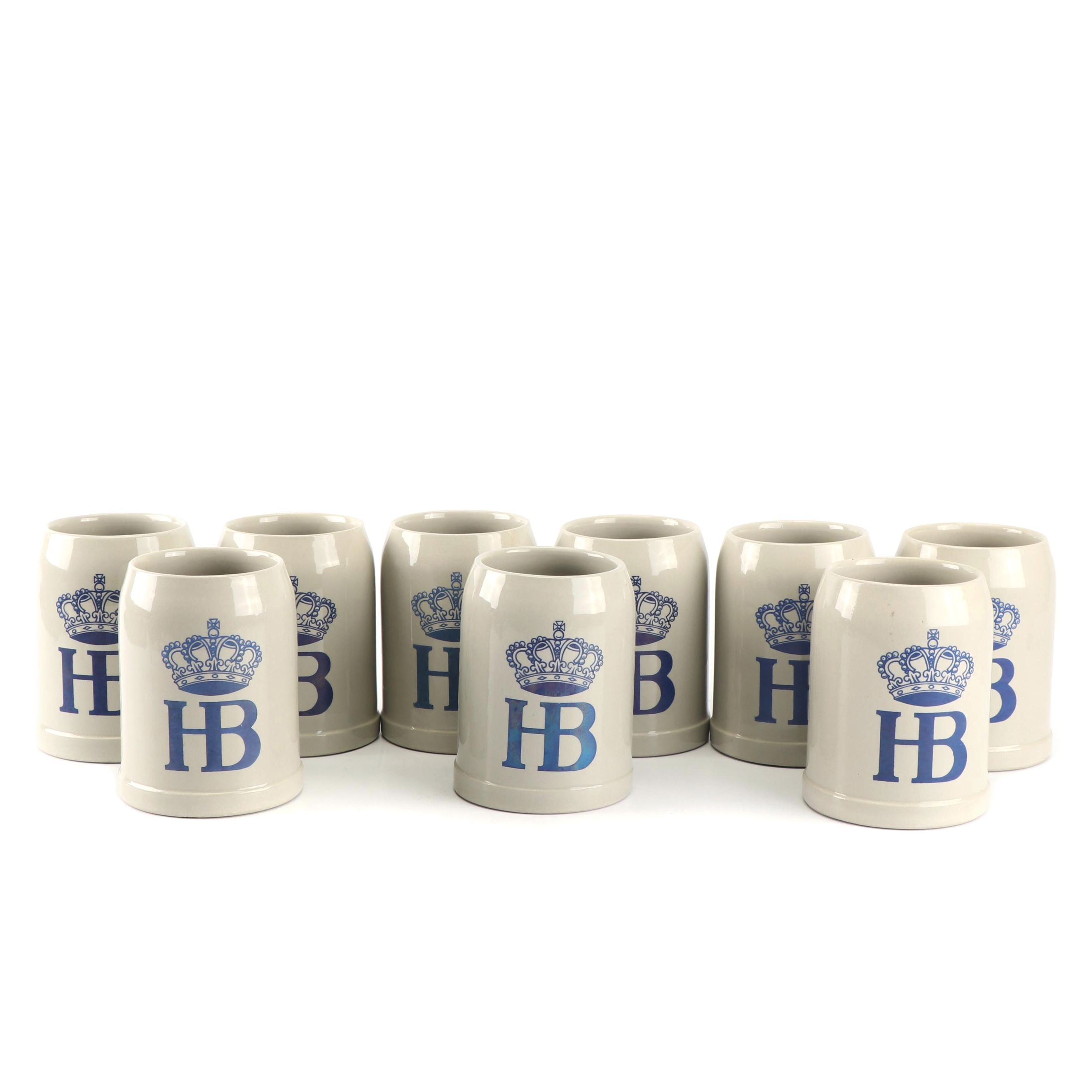 Vintage German Hofbrauhaus Stoneware Beer Steins