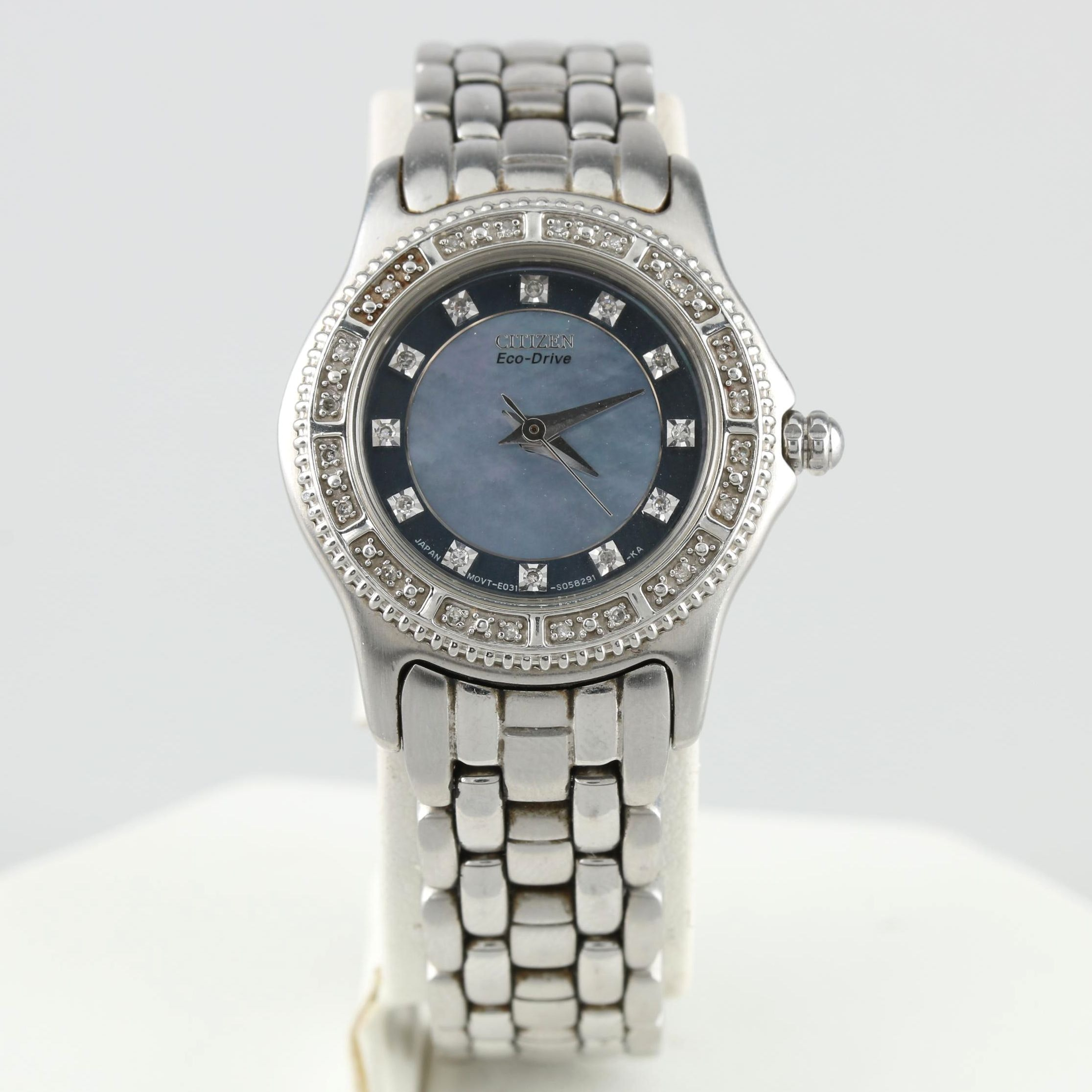 Citizen Eco-Drive E031 Diamond and Mother of Pearl Wristwatch