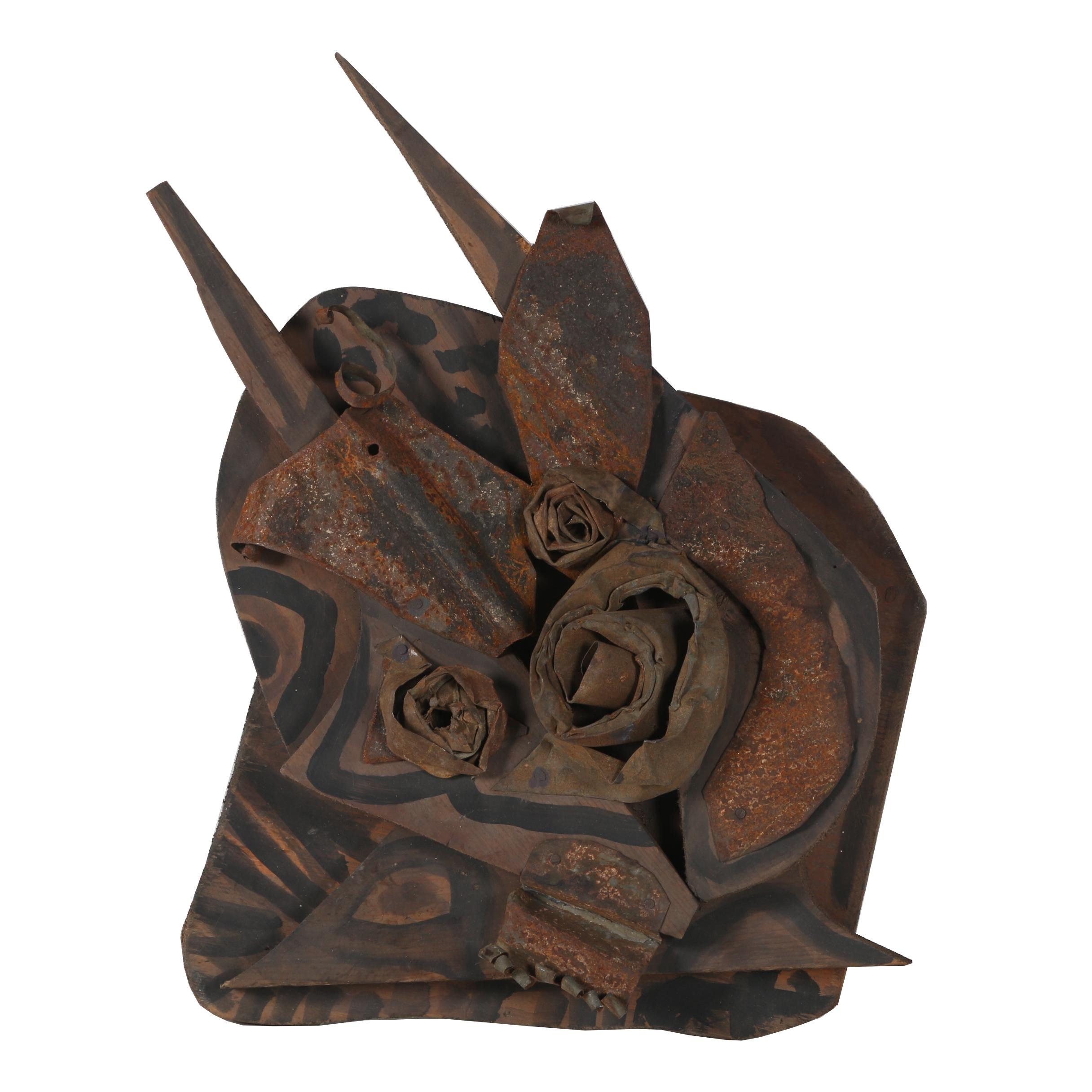 """Jerry Coker Mixed Media Sculpture """"Starkisser"""""""