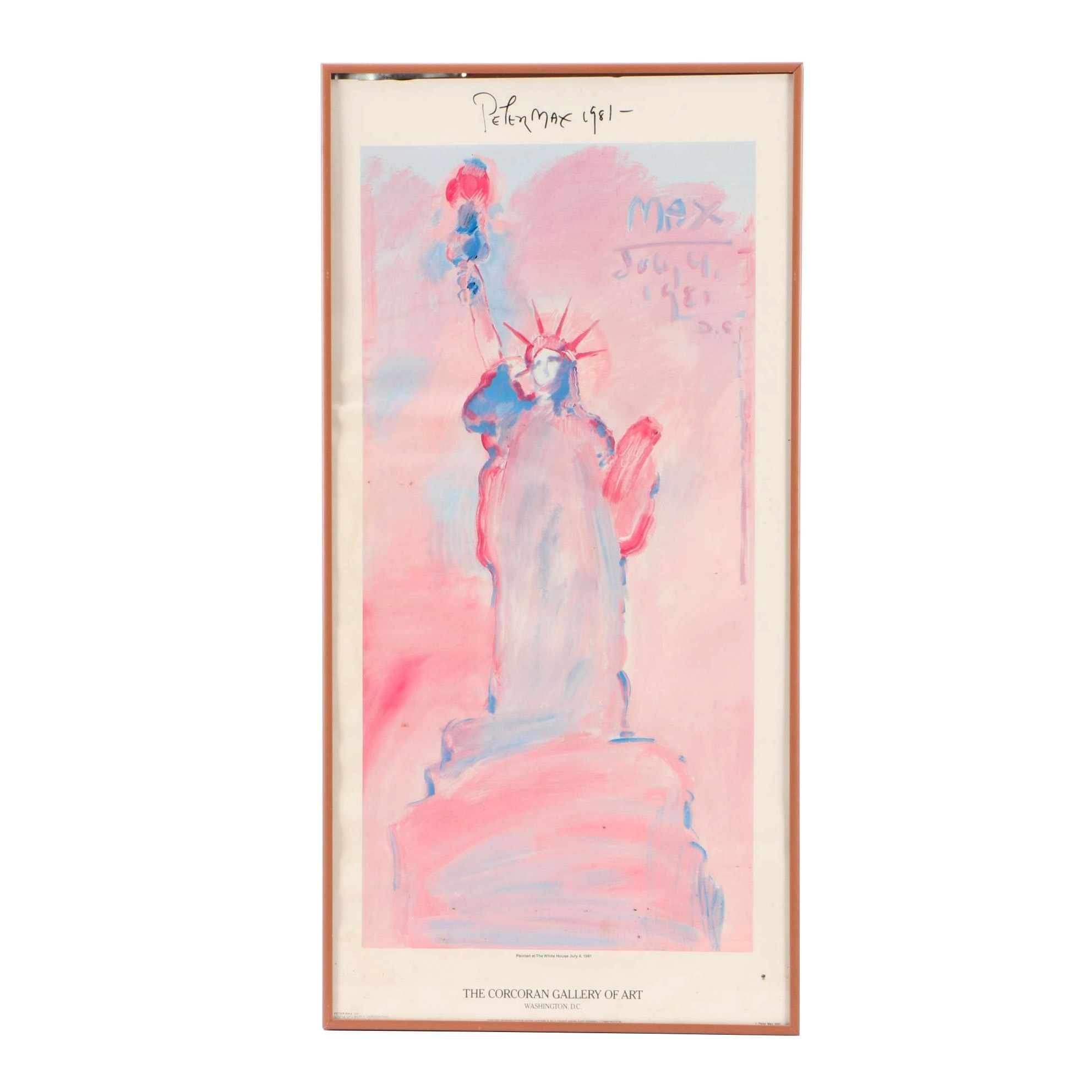 Autographed 1981 Peter Max Poster for the Corcoran Gallery of Art