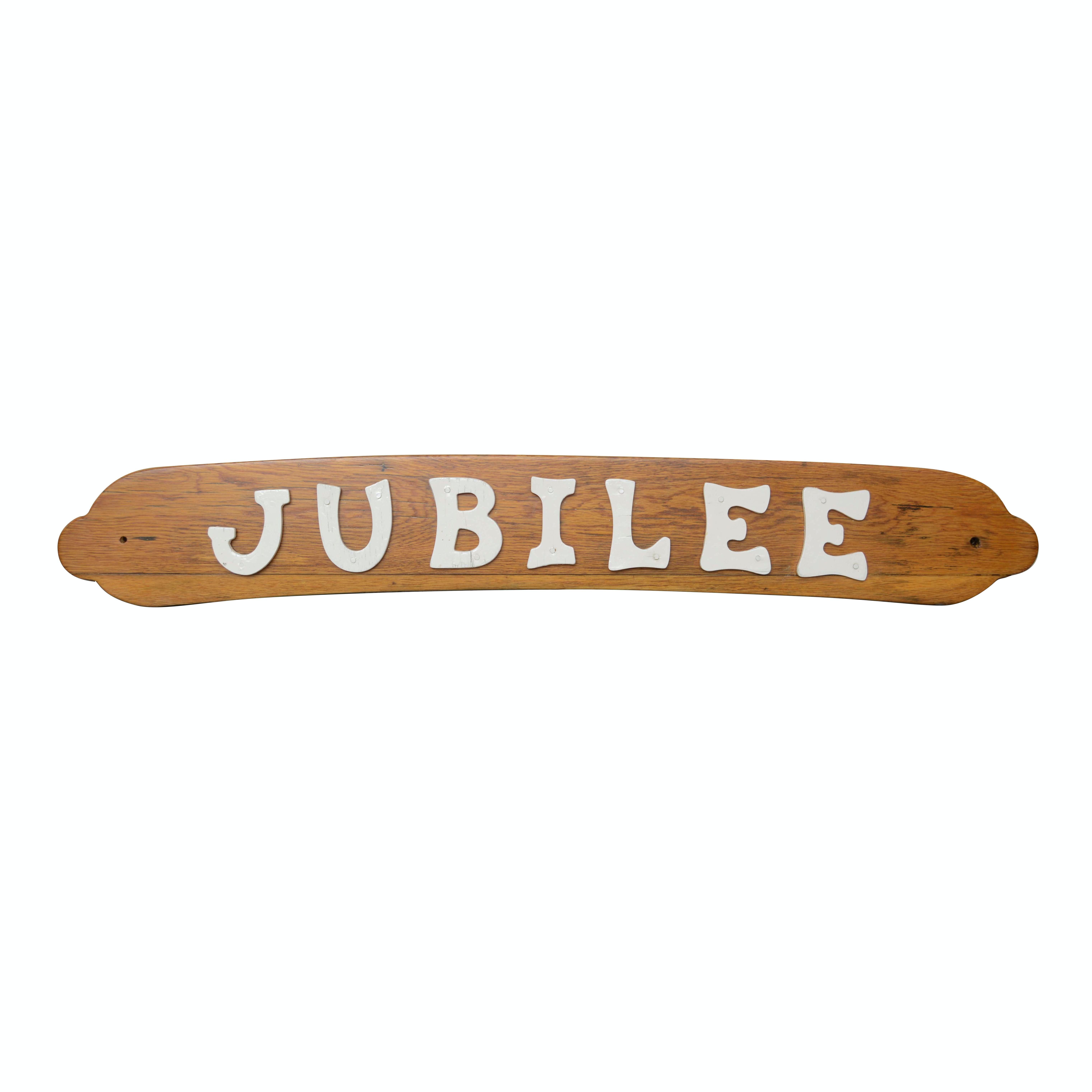 Jubilee Boat Plaque from Estate of Jack Bradley