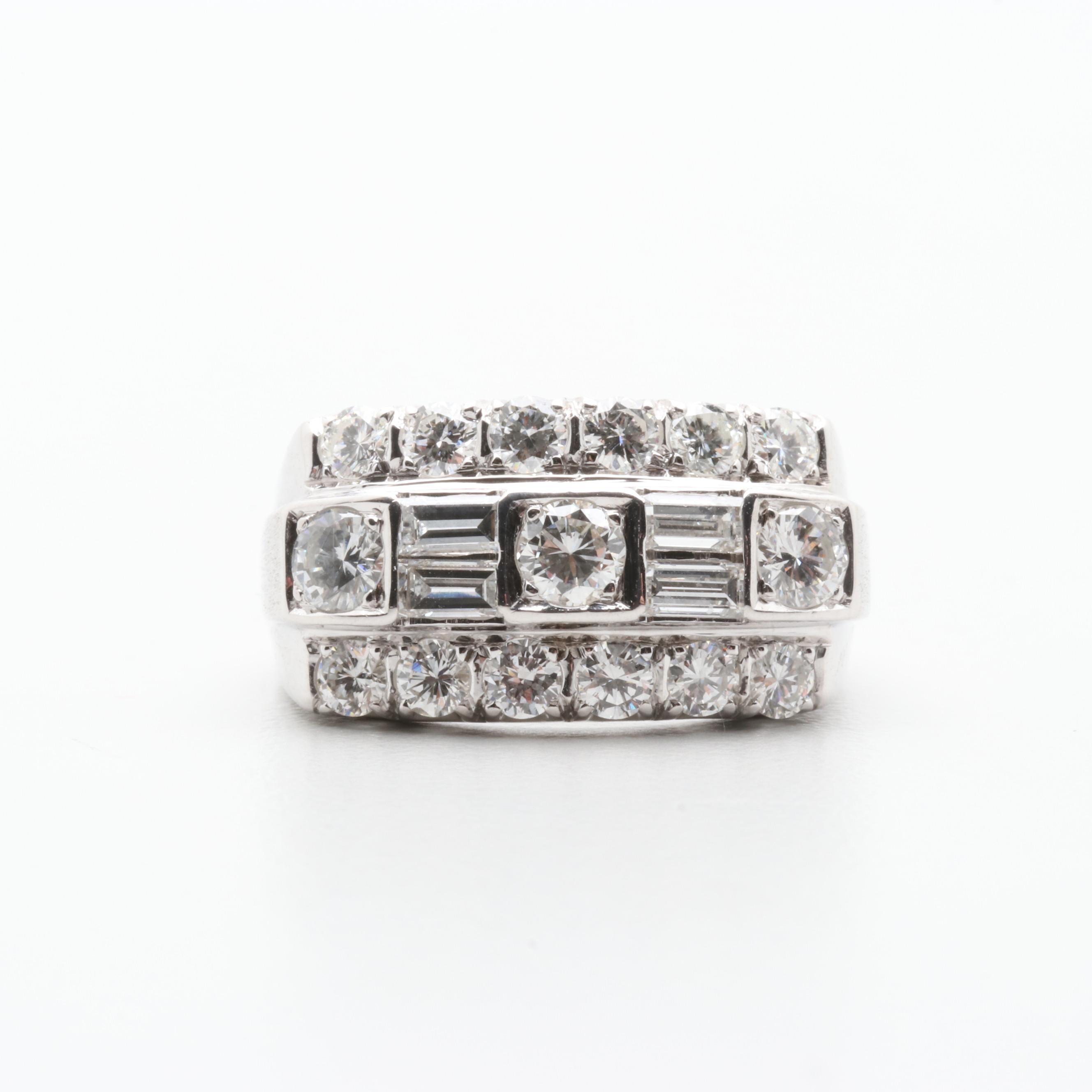 14K White Gold 1.62 CTW Diamond Ring