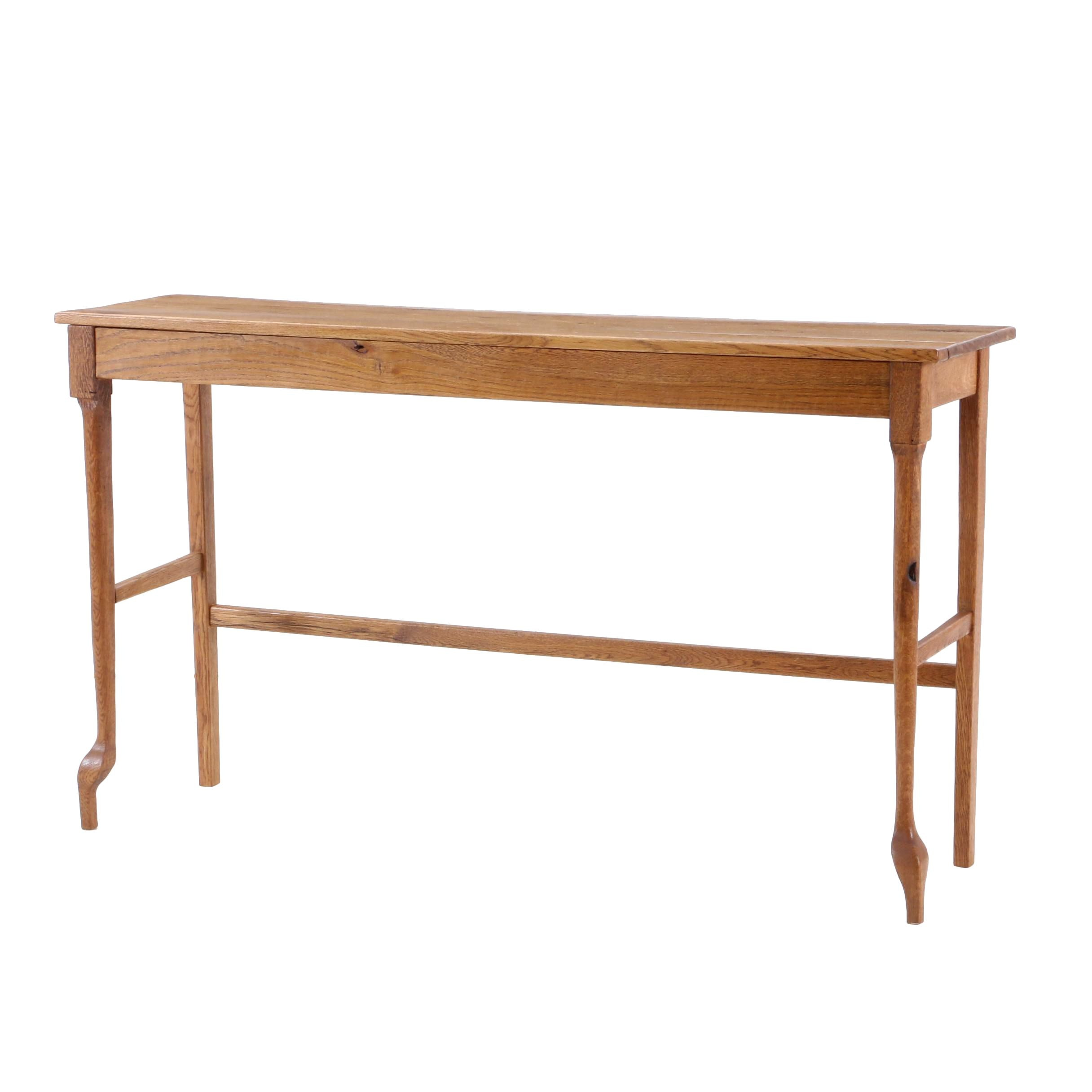 Oak Console Table, Late 20th Century