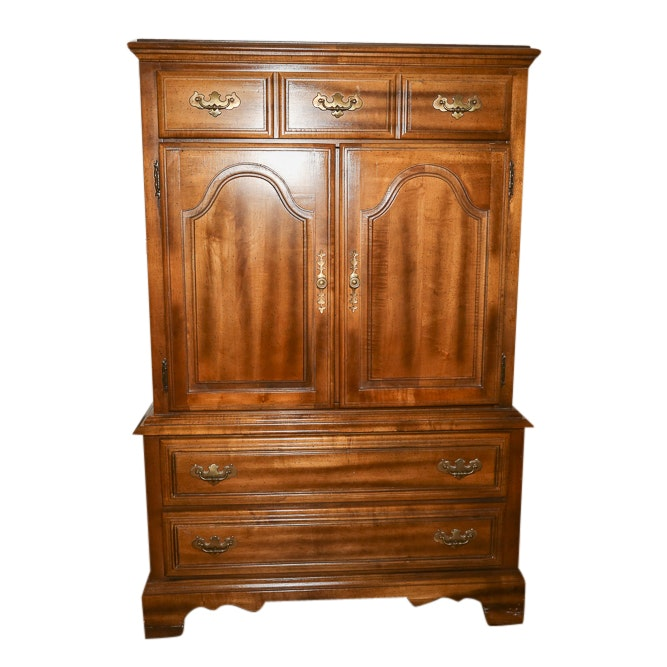 Colonial Style Armoire by American Drew, Late 20th Century