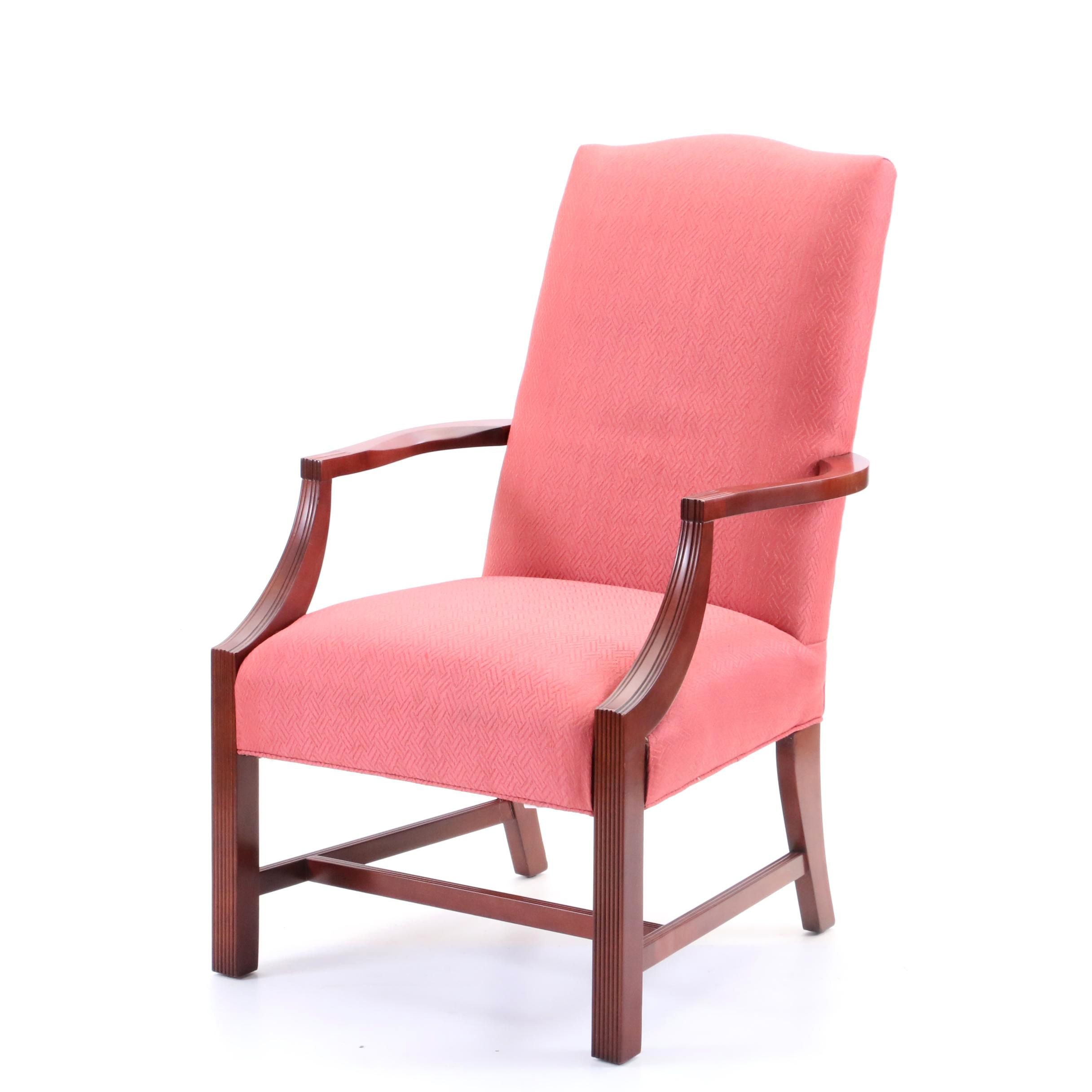 Federal Style Upholstered Lolling Chair by Laine, 21st Century