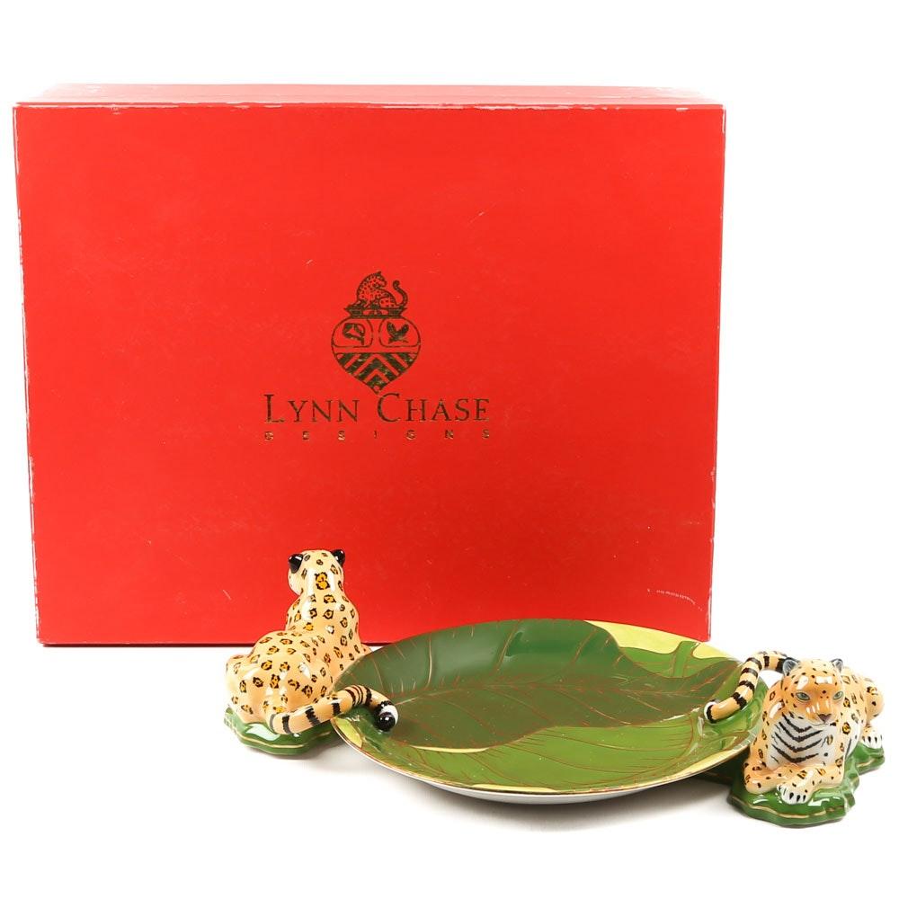 "Lynn Chase ""Jaguar Jungle"" Figural Serving Tray"