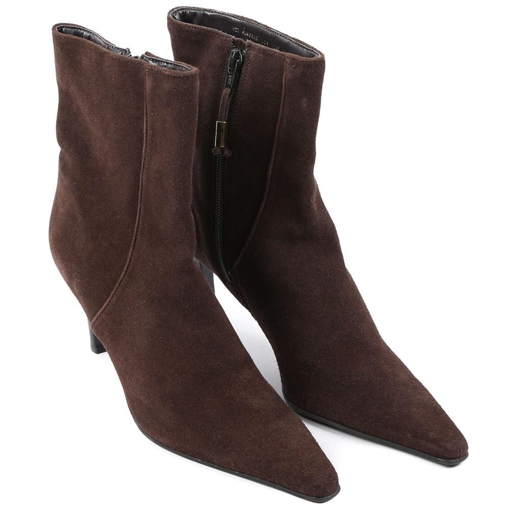 Women's Ralph Lauren Chocolate Brown Suede Ankle Boots