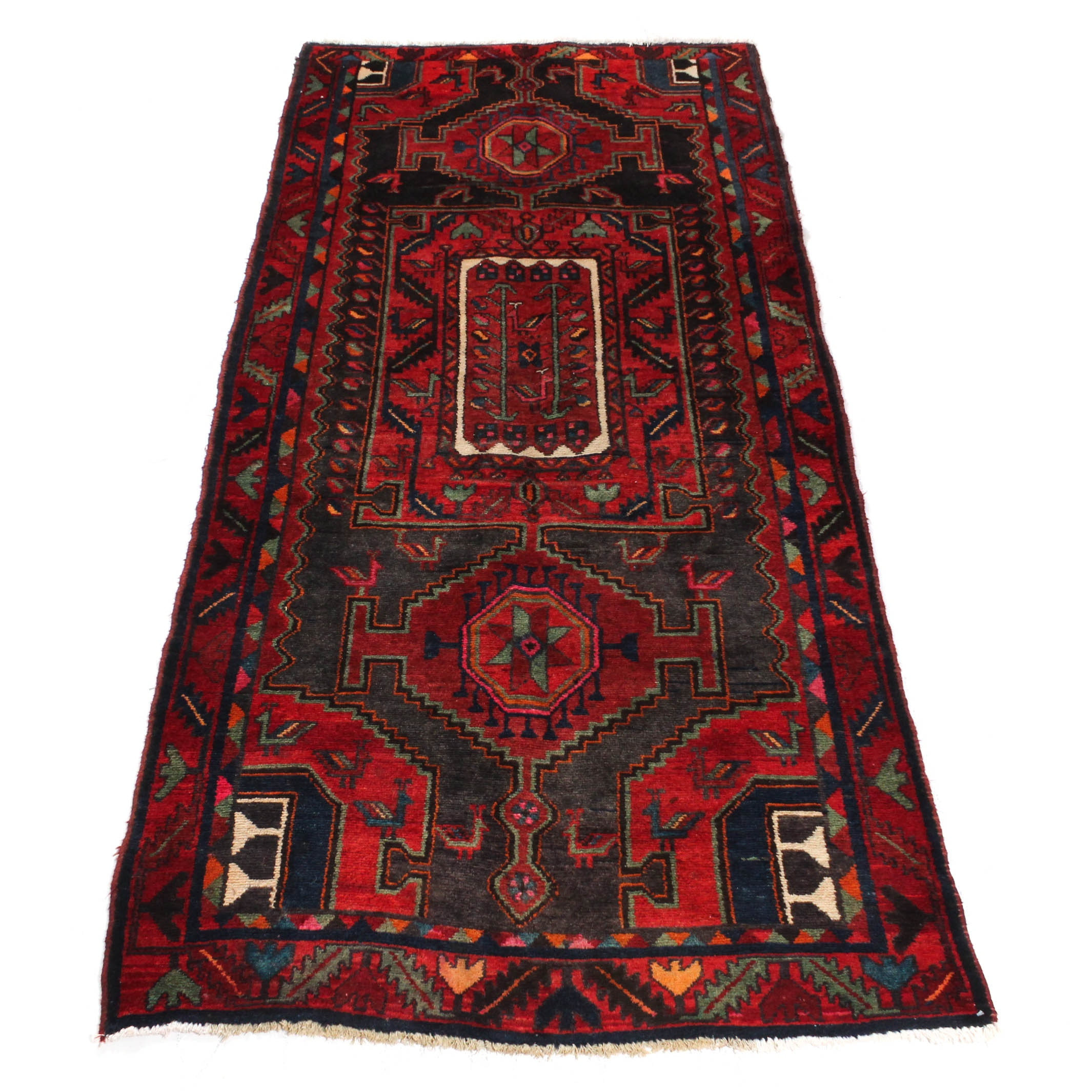 Semi-Antique Hand-Knotted Northwest Persian Runner