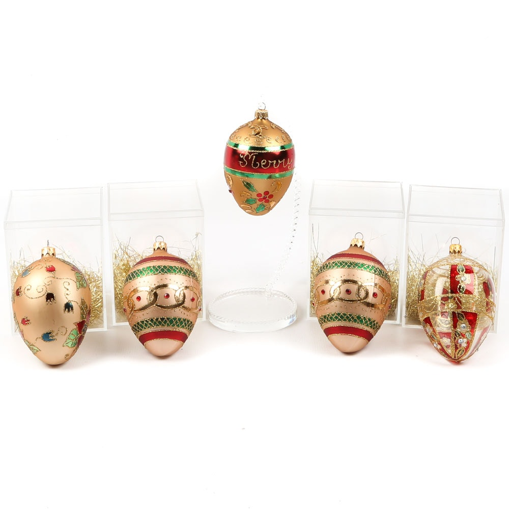 Alan Silverstone Glass Tree Ornaments by Elégance