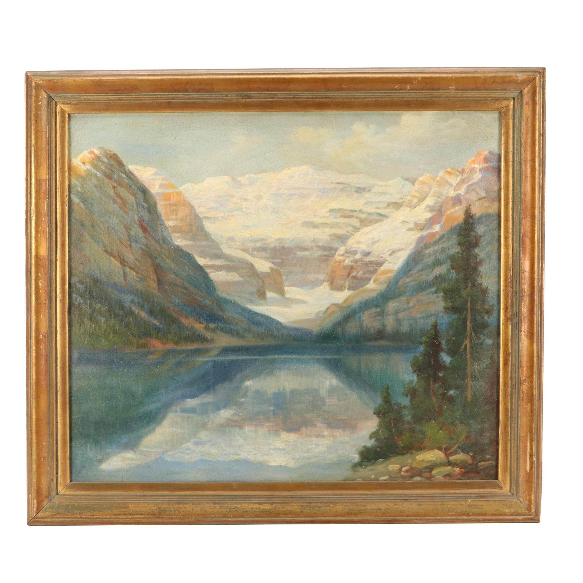 "American Landscape Oil Painting ""Lake Louise, Banff, British Columbia"""