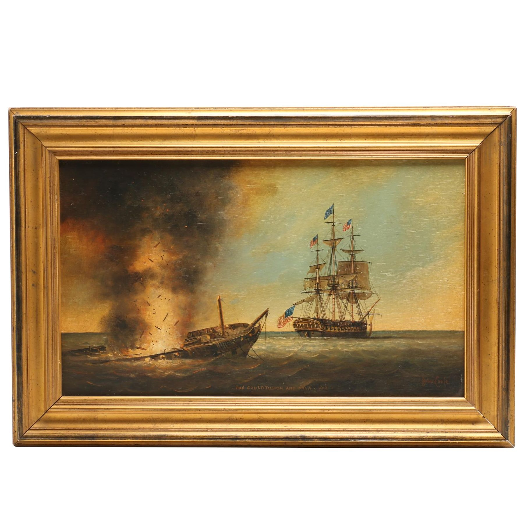 Brian Coole Historical Maritime Scene Oil Painting
