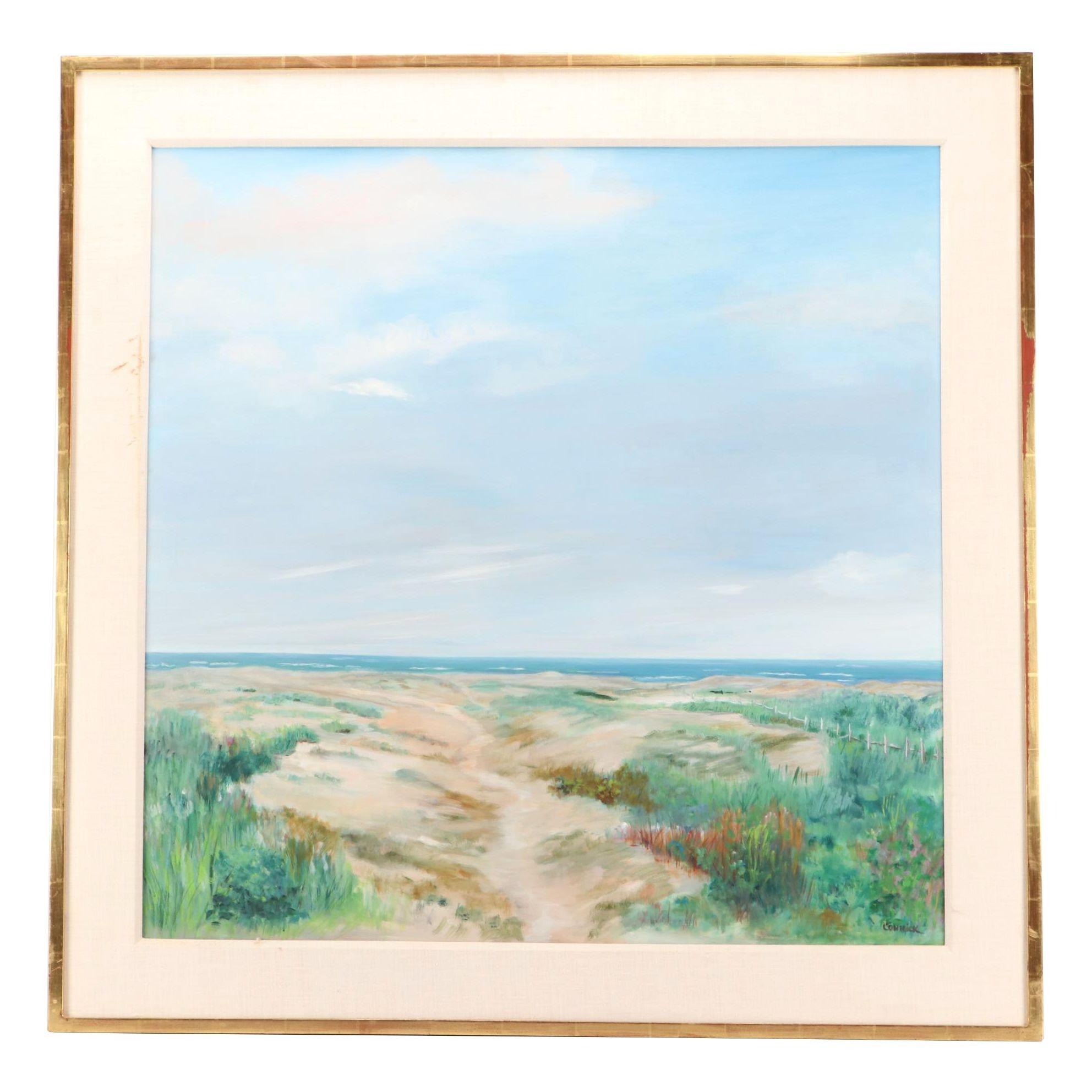 Connick Coastal Landscape Oil Painting